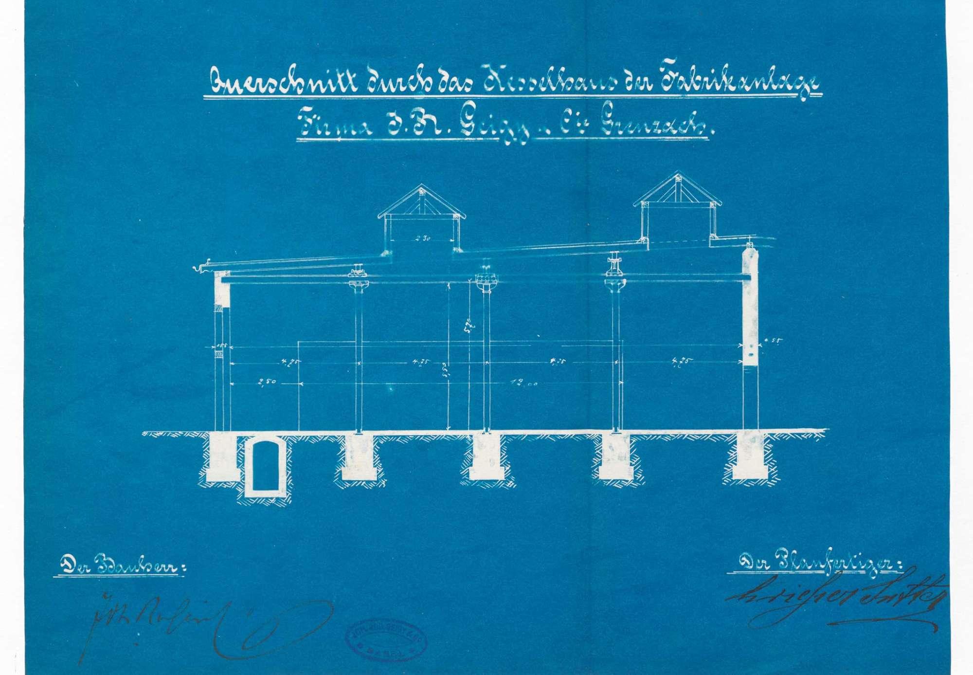 Gesuch der Fa. J. R. Geigy AG in Grenzach um Erlaubnis zur Anlegung bzw. Veränderung zweier Dampfkessel, Bild 3