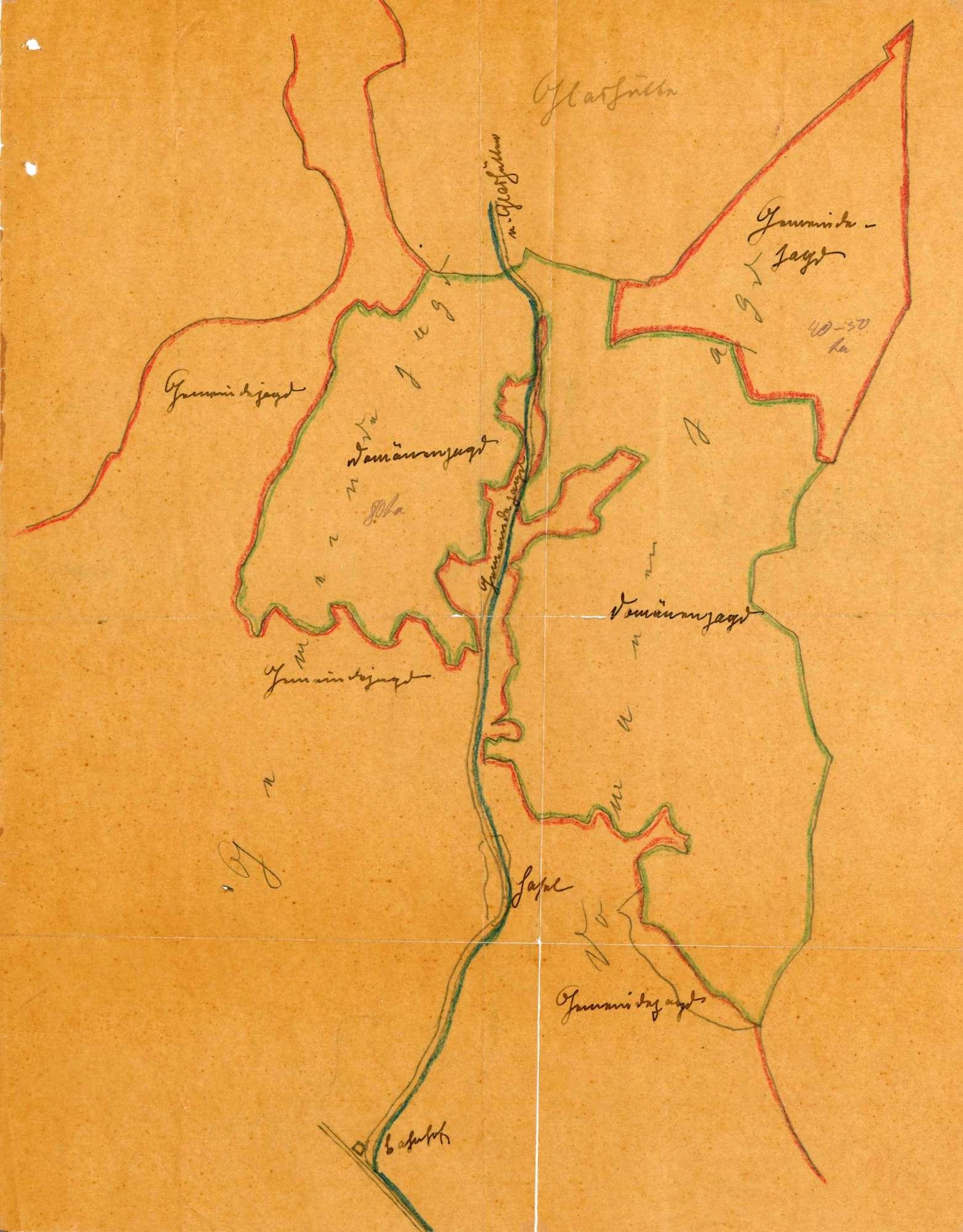 Jagdbezirke, Jagdgenossenschaften und Jagdverpachtungen auf der Gemarkung der Gemeinde Hasel, Bild 2