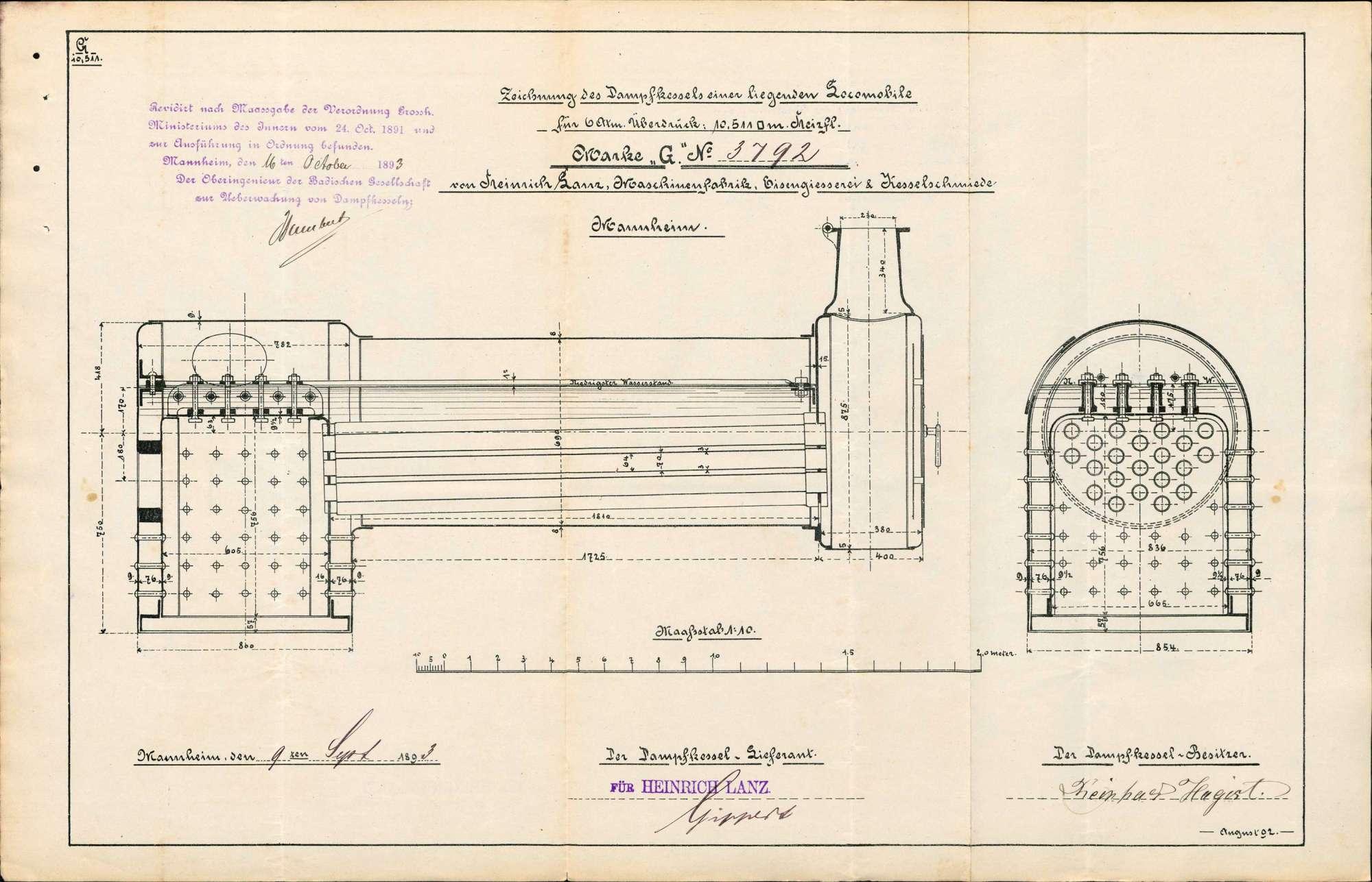 Gesuch des Reinhard Hagist in Eimeldingen um Erlaubnis zur Anlegung eines Dampfkessels, Bild 3