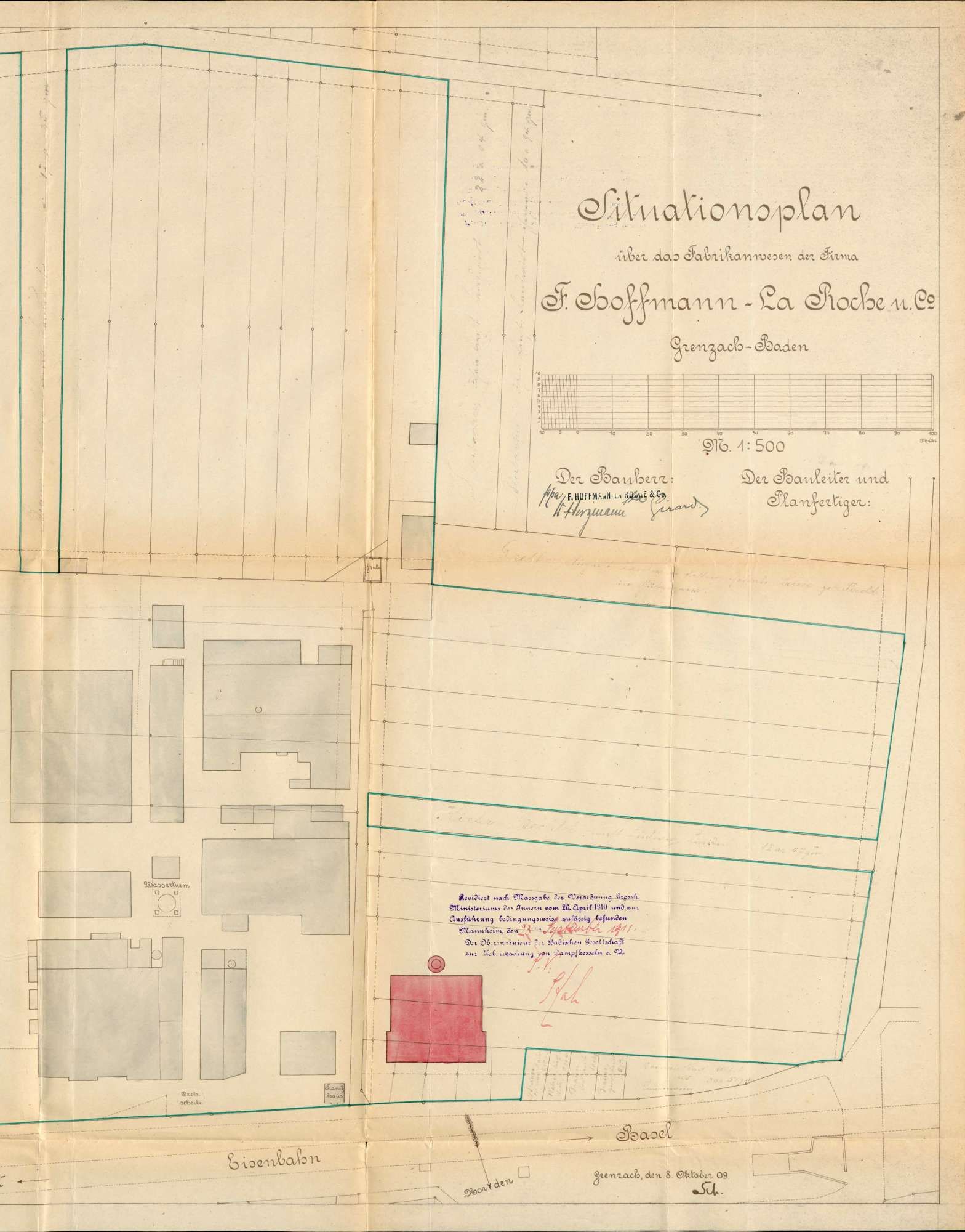 Gesuch der Fa. Hoffmann-La Roche in Grenzach um Erlaubnis zur Anlegung dreier Dampfkessel, Bild 2