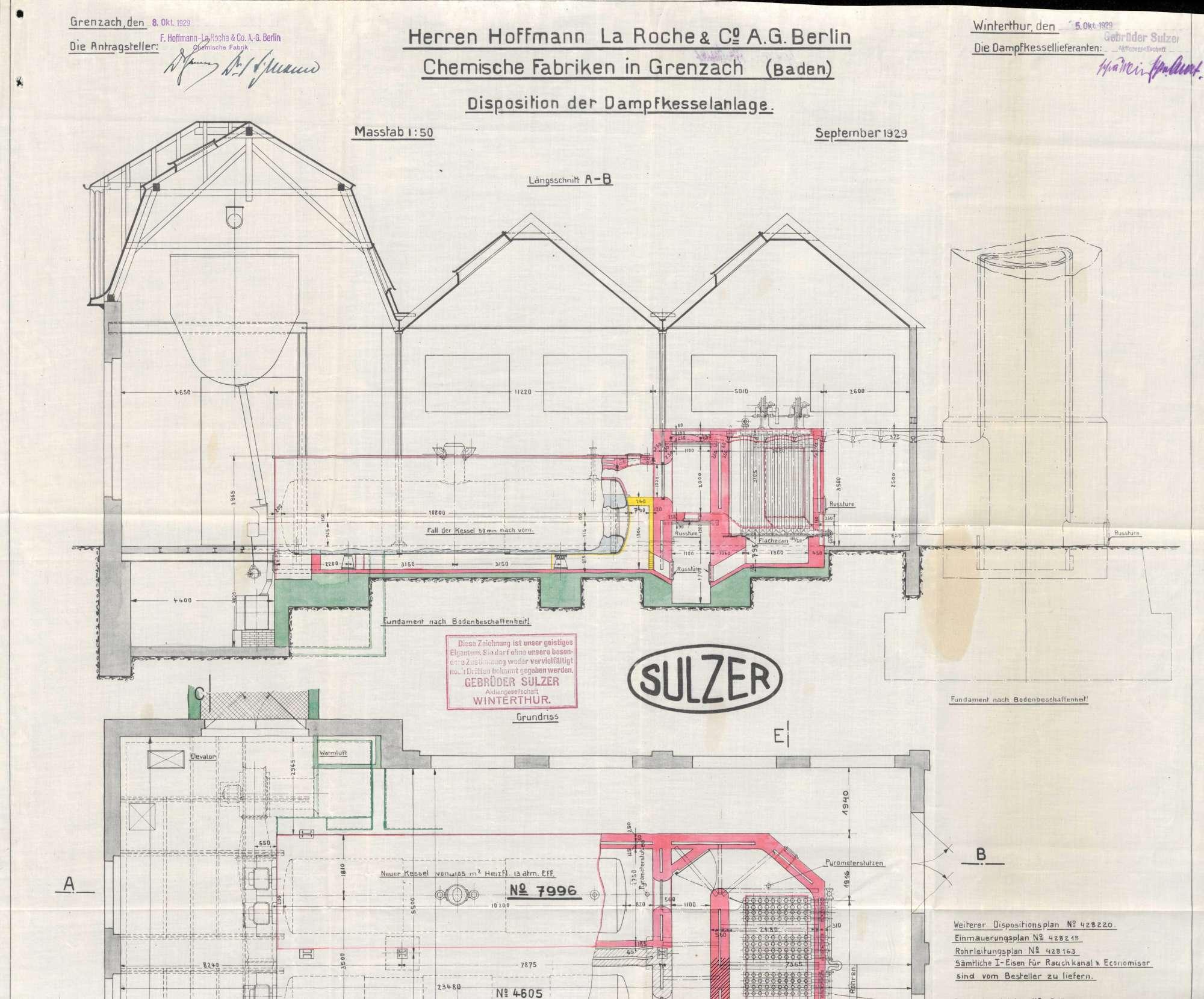 Gesuch der Fa. Hoffmann-La Roche in Grenzach um Erlaubnis zur Anlegung eines Dampfkessels, Bild 3