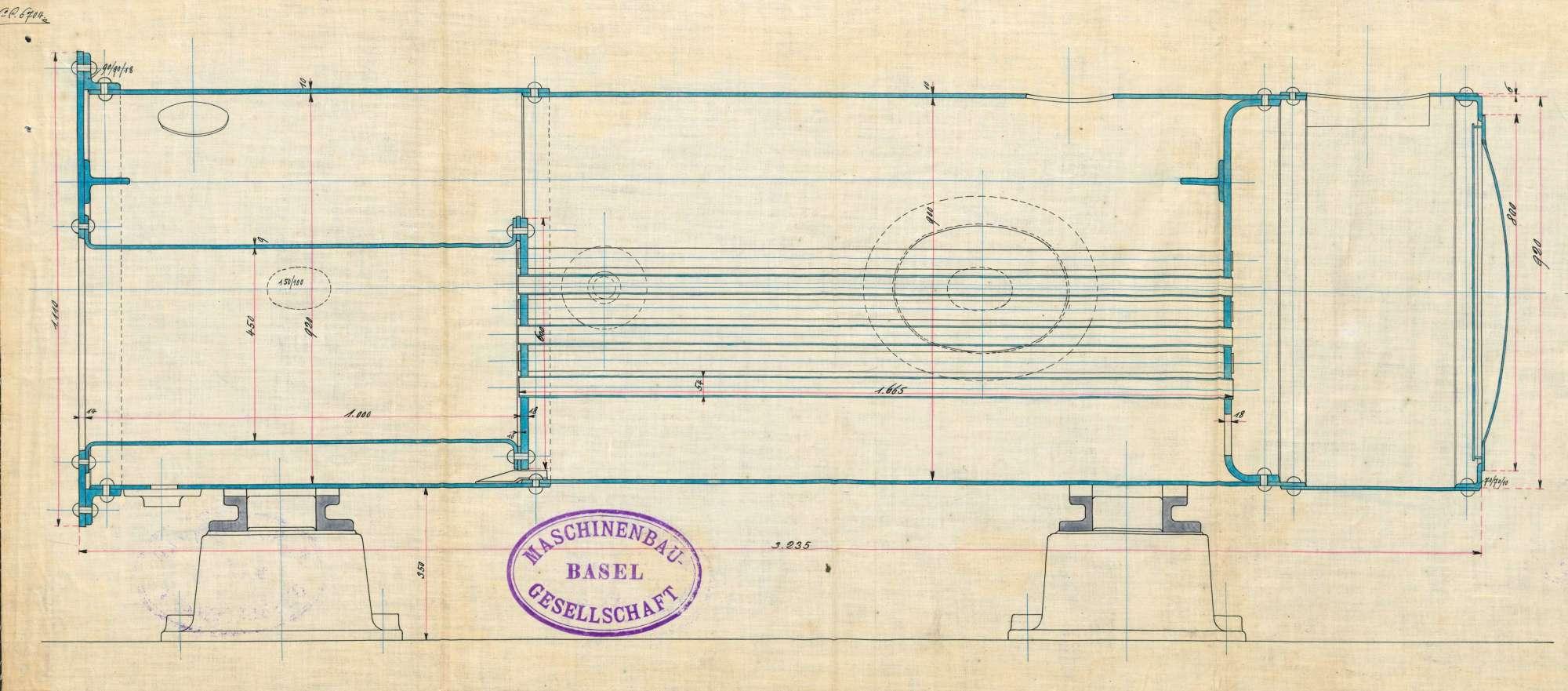 Gesuch der Fa. Gebrüder Grether, Maulburg, um Erlaubnis zur Anlegung eines Dampfkessels in ihrem Gipswerk in Höllstein, Bild 3