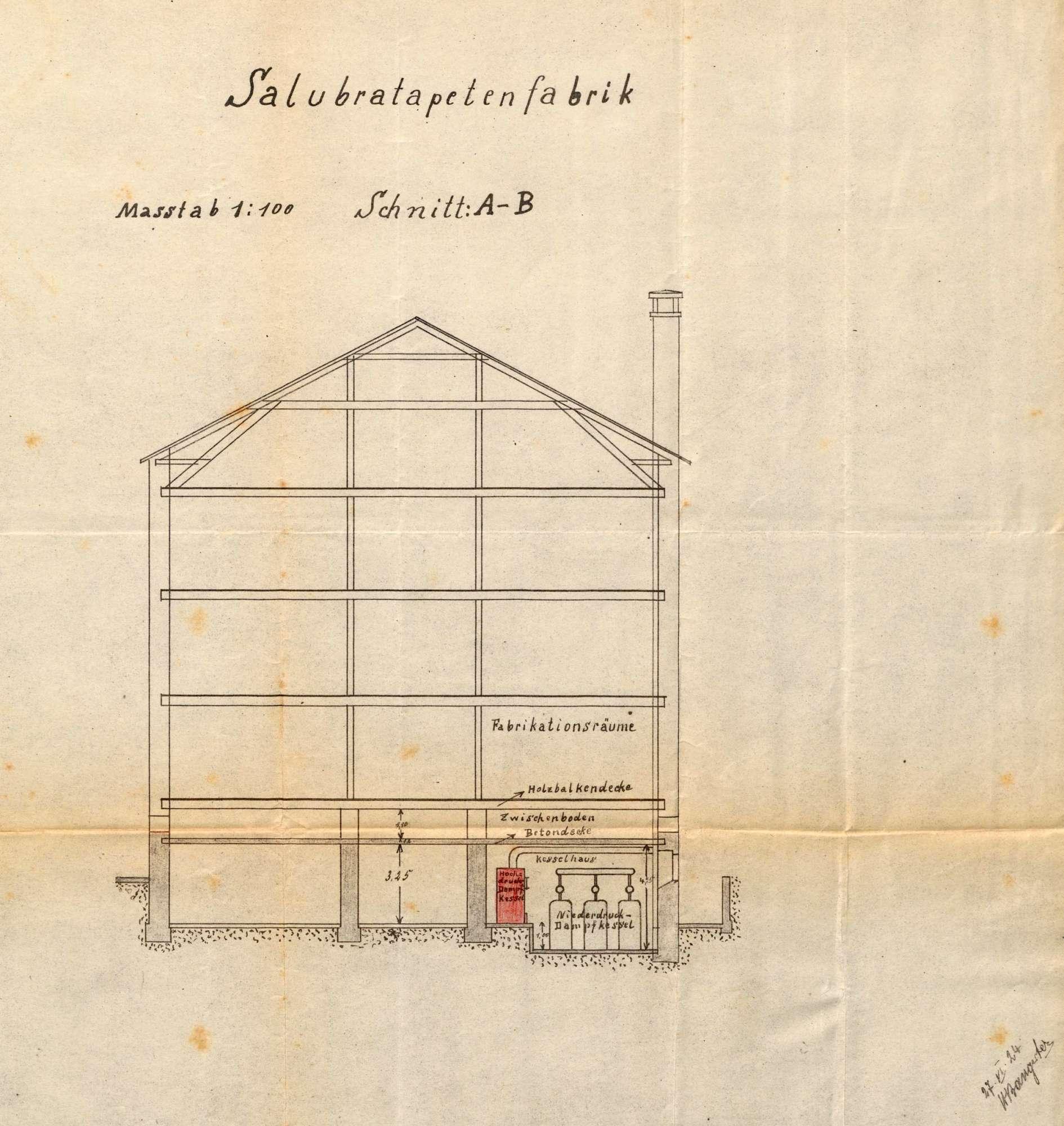 Gesuch der Salubra-Tapetenfabrik AG in Grenzach um Erlaubnis zur Anlegung eines Dampfkessels, Bild 3