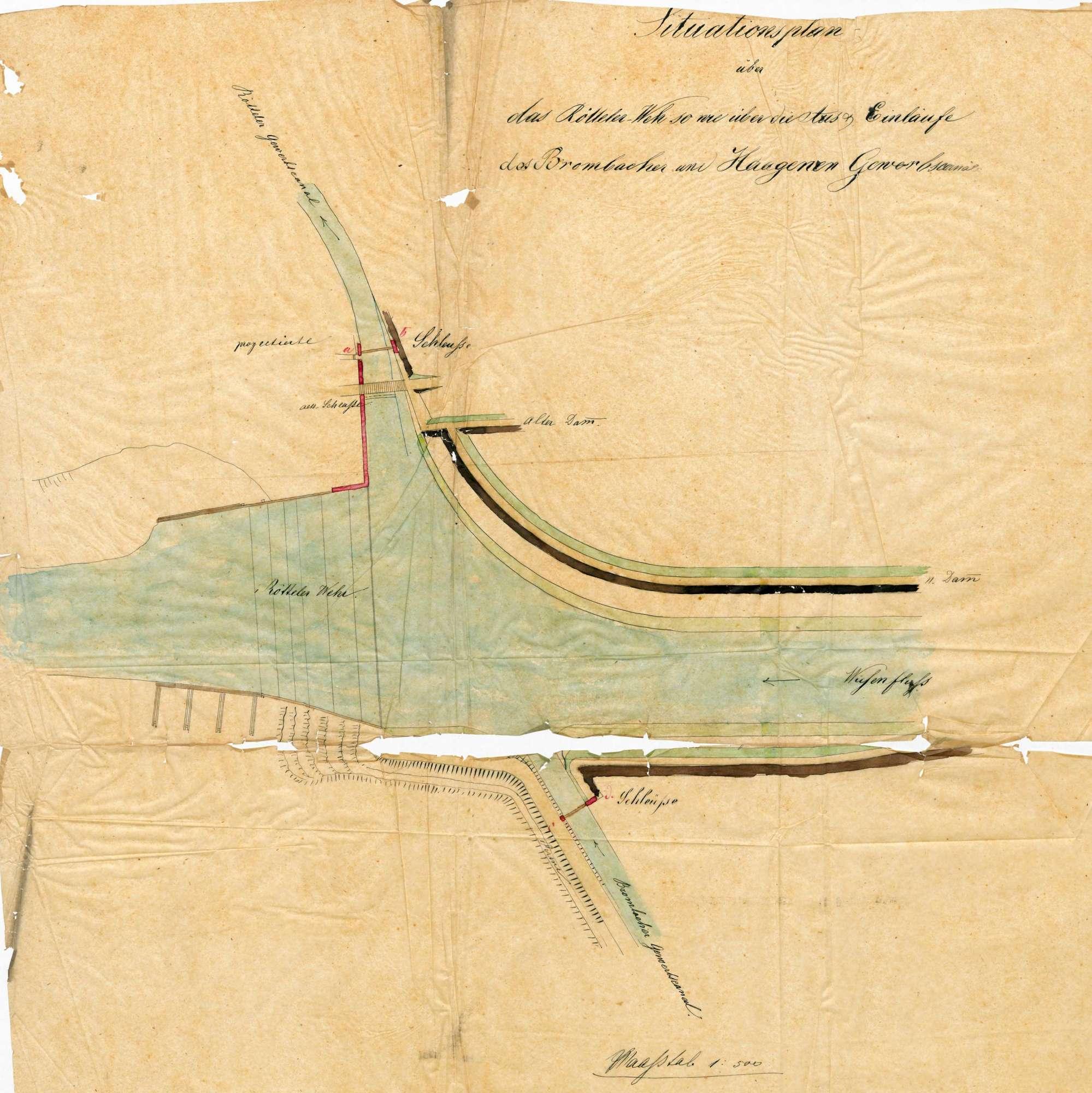 Korrektion des Wieseflusses auf Gemarkung Hauingen, Bild 1
