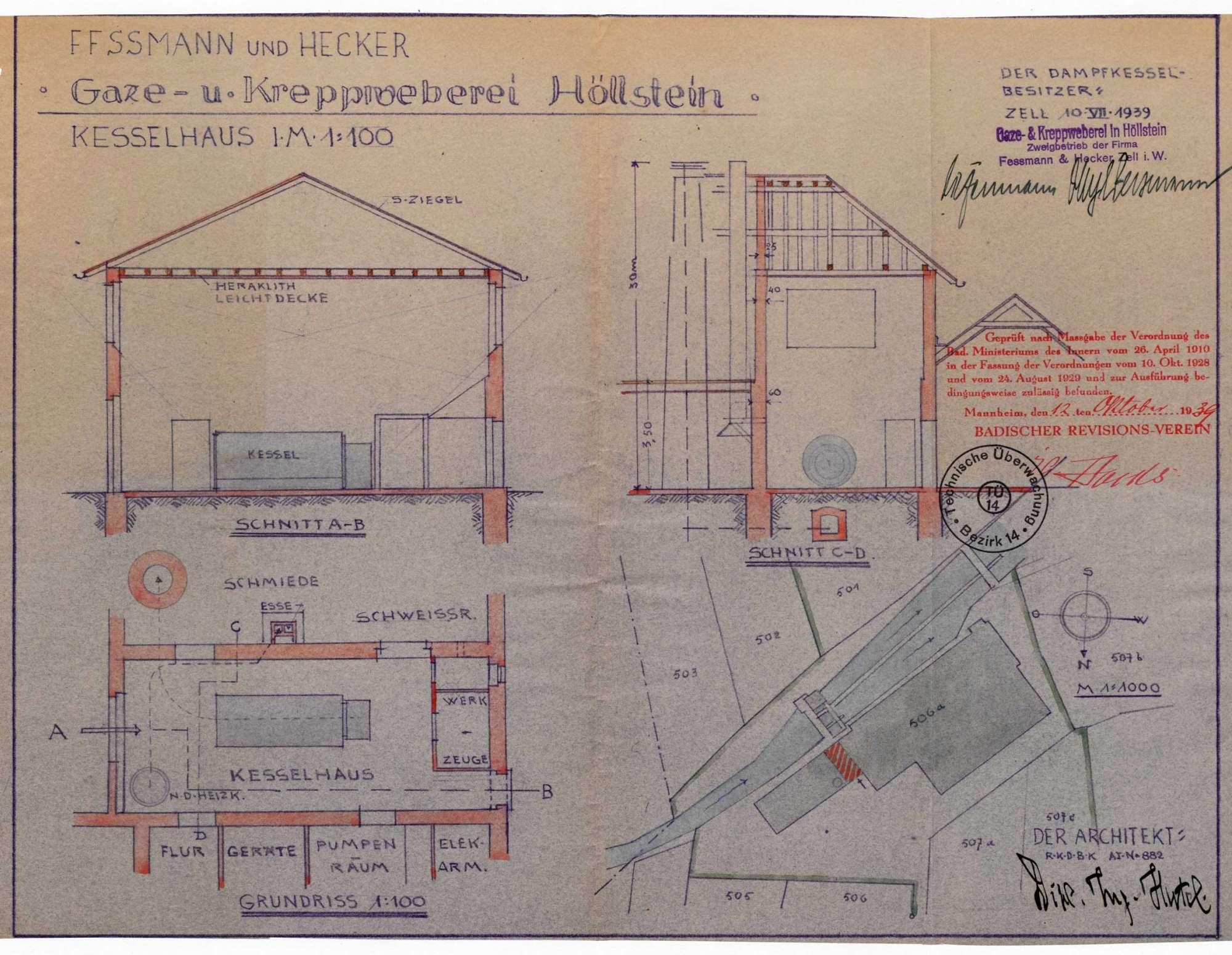 Zulassung eines Niederdruckdampfkessels in der Fa. Gaze- und Kreppweberei in Höllstein, Bild 2