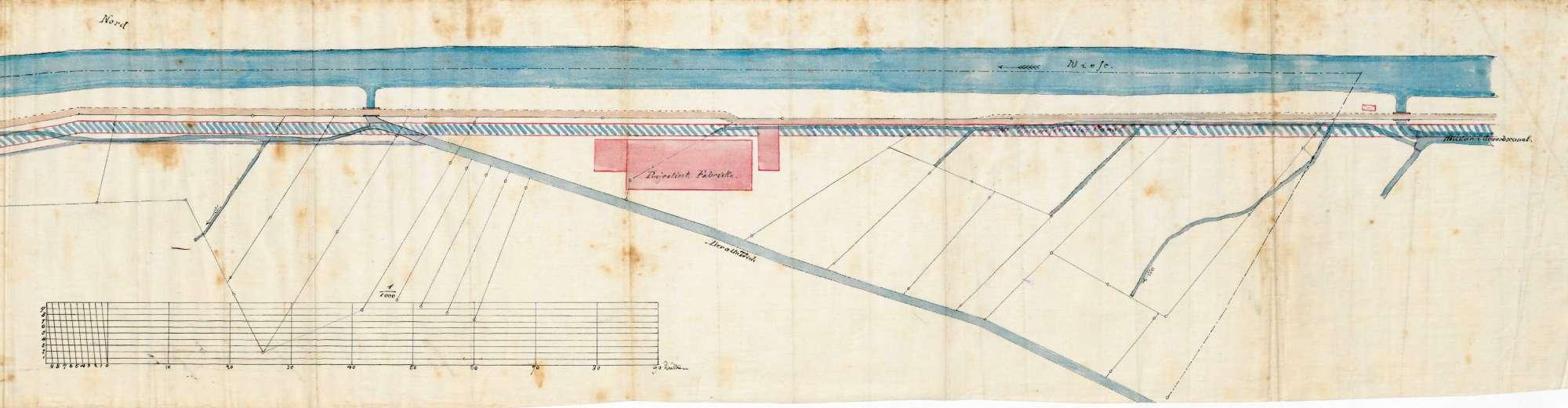 Einrichtung eines Wasserwerks durch den Fabrikanten Louis Merian in Höllstein; Beschwerden von wasserberechtigten Mitbesitzern, Bild 2