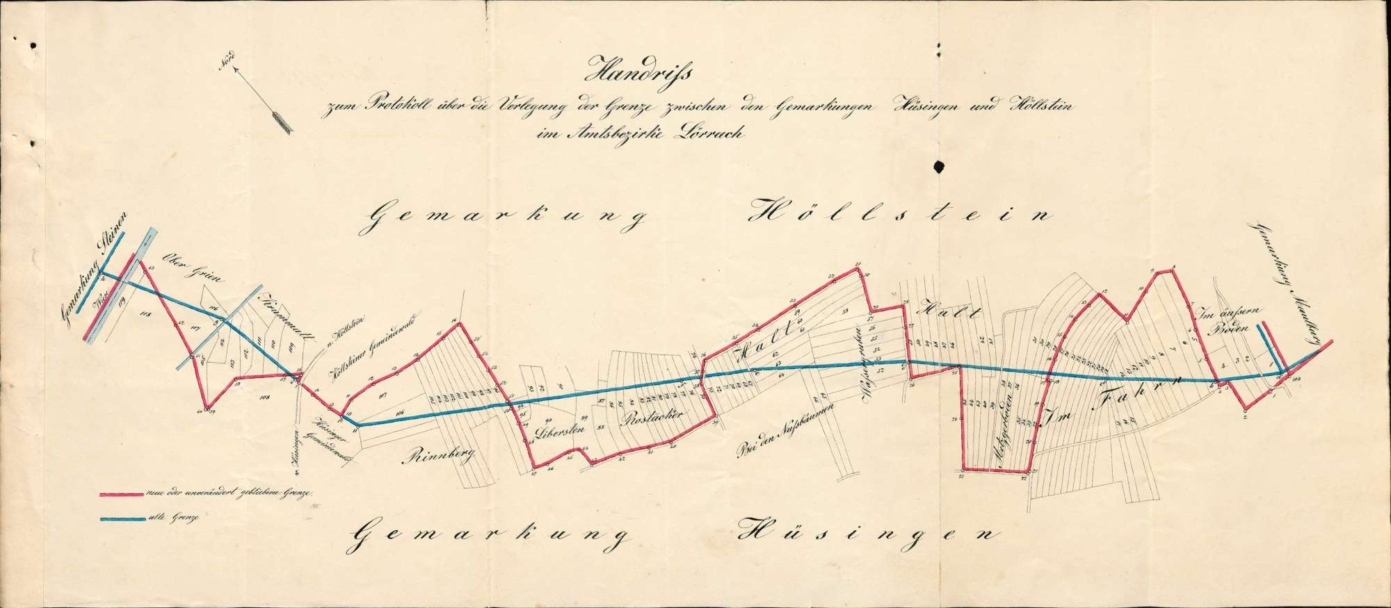 Verlegung der Gemarkungsgrenzen zwischen den Gemeinden Hüsingen und Höllstein, Bild 1