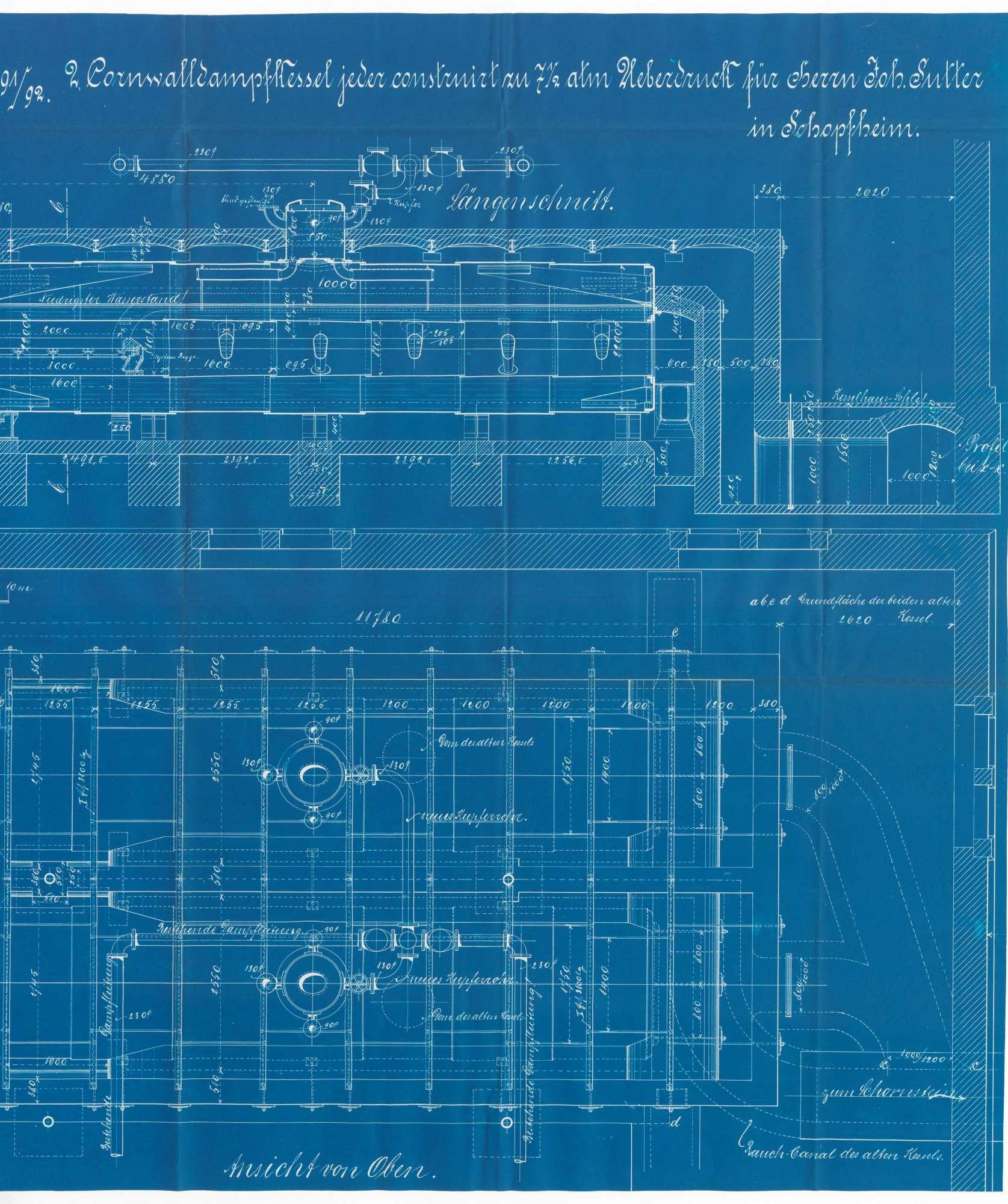 Gesuch der Papierfabrik Johann Sutter in Schopfheim um Erlaubnis zur Anlegung bzw. Veränderung zweier Dampfkessel, Bild 2
