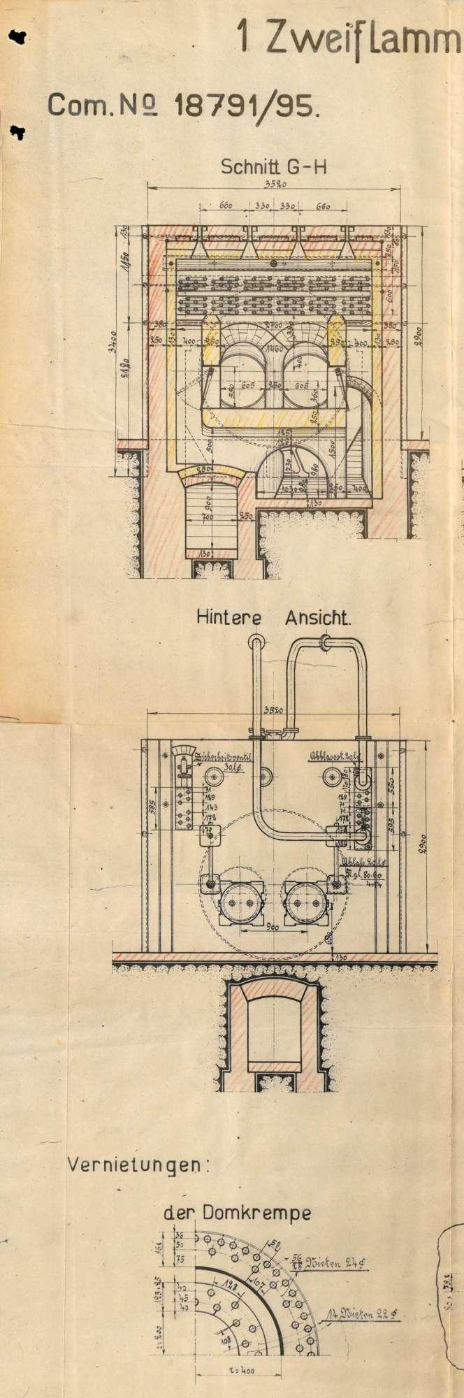 Gesuch der Papierfabrik Thurneisen in Maulburg um Erlaubnis zur Anlegung bzw. Veränderung eines Dampfkessels; Verkauf des Kessels, Bild 3