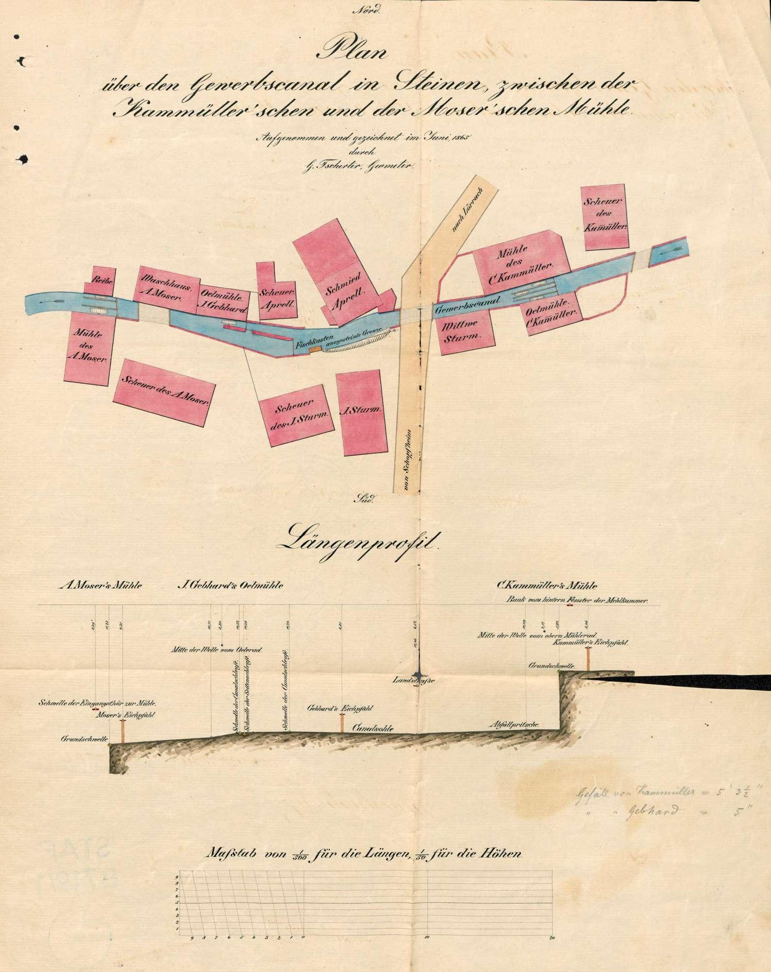 Gesuch der Fa. Wilhelm Geigy & Cie (später: Spinnerei und Weberei Steinen AG) um Genehmigung zur Anlegung eines Dampfkessels, Bild 2
