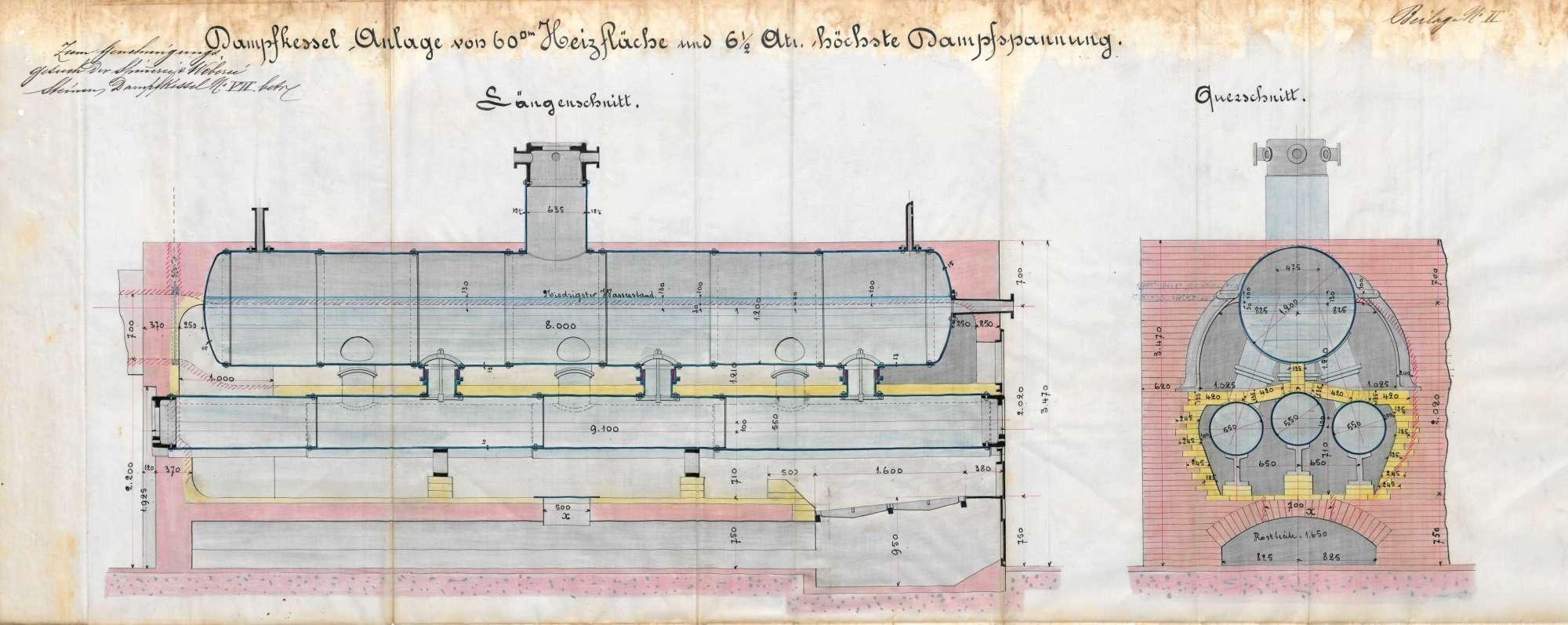 Gesuch der Spinnerei und Weberei Steinen AG um Erlaubnis zur Anlegung zweier Dampfkessel, Bild 1