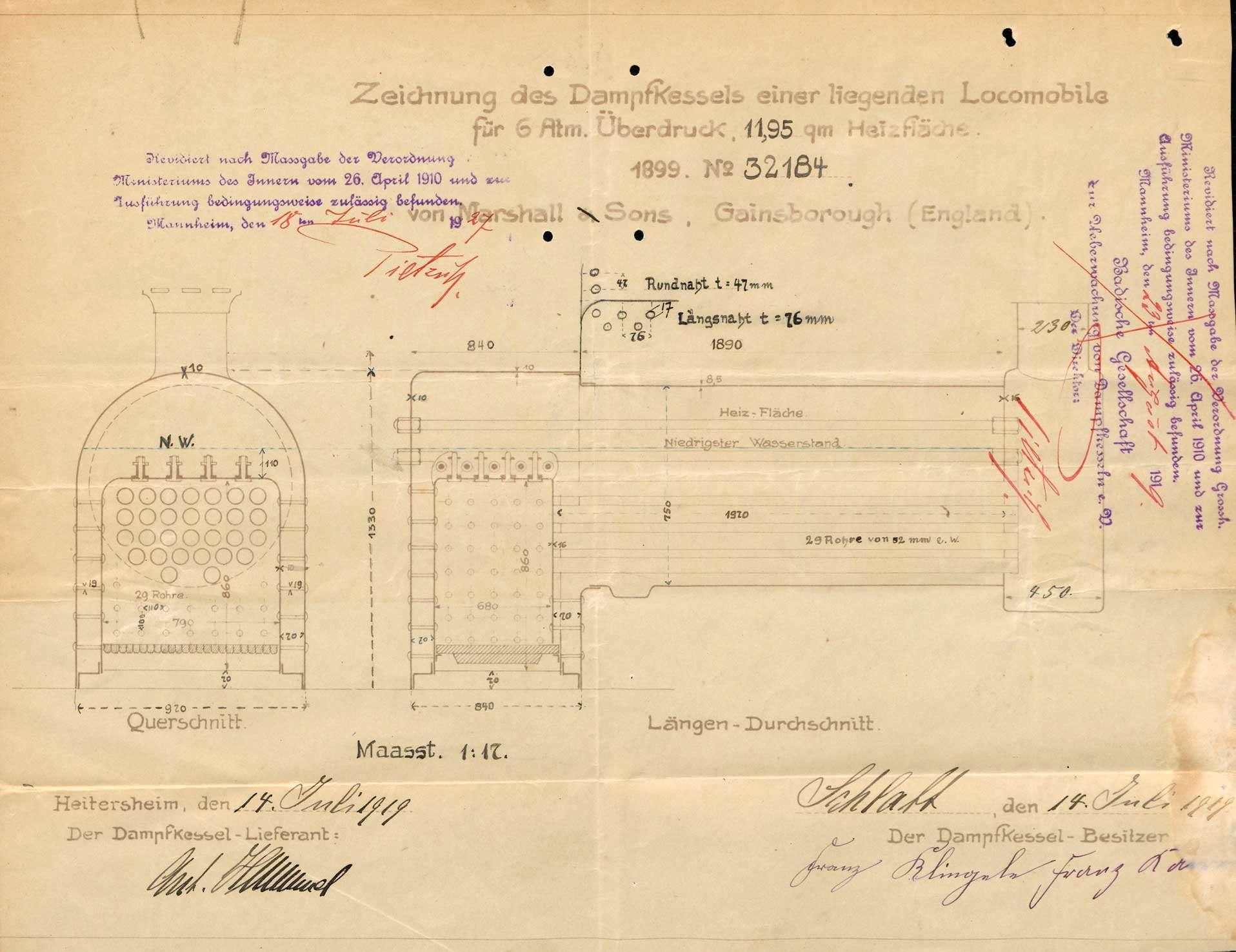 Gesuch der Süddeutschen Straßenbau-Industrie GmbH, Kandern, um Erlaubnis zur Anlegung eines Dampfkessels in Wollbach, Bild 3