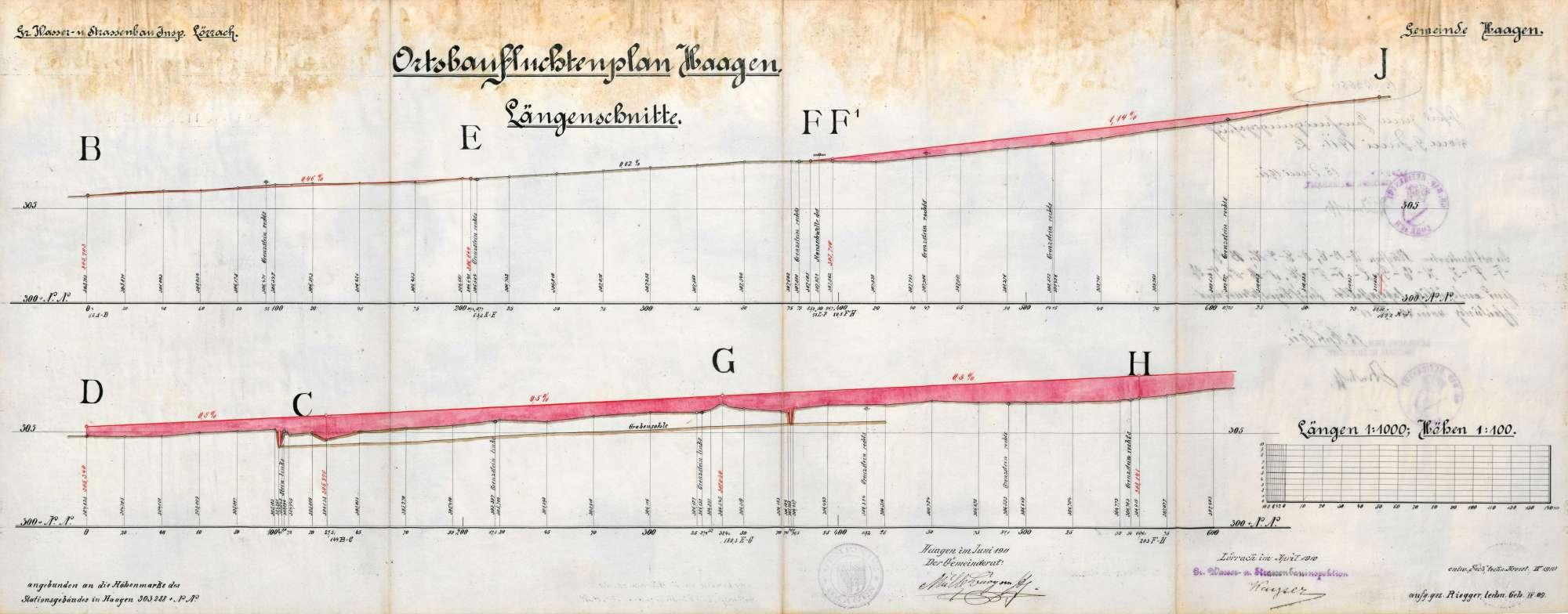 Herstellung und Unterhaltung des Vebindungsweges zwischen Brombach und der Eisenbahnstation Haagen, Bild 3