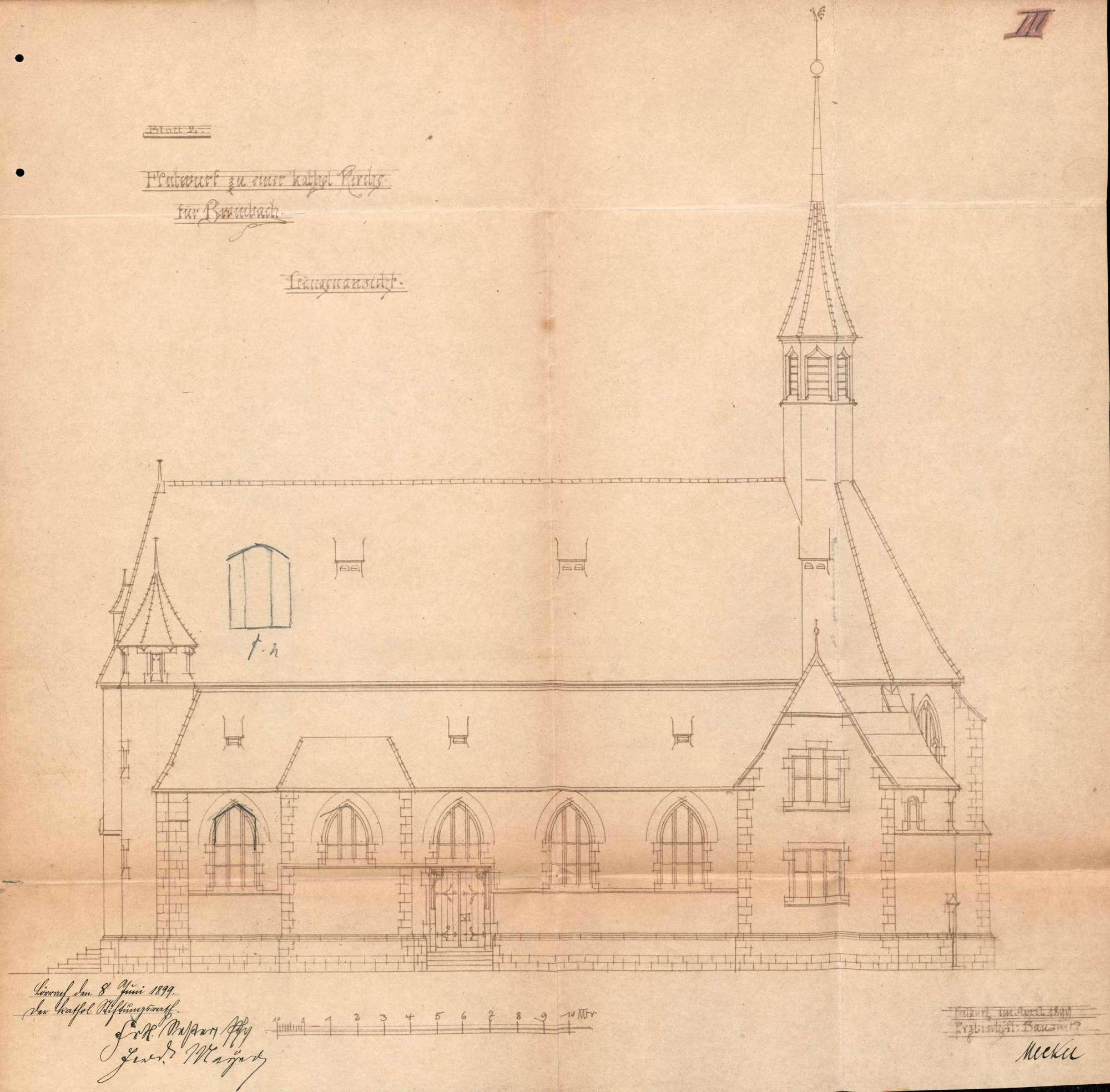 Bau der katholischen Kirche in Brombach, Bild 3