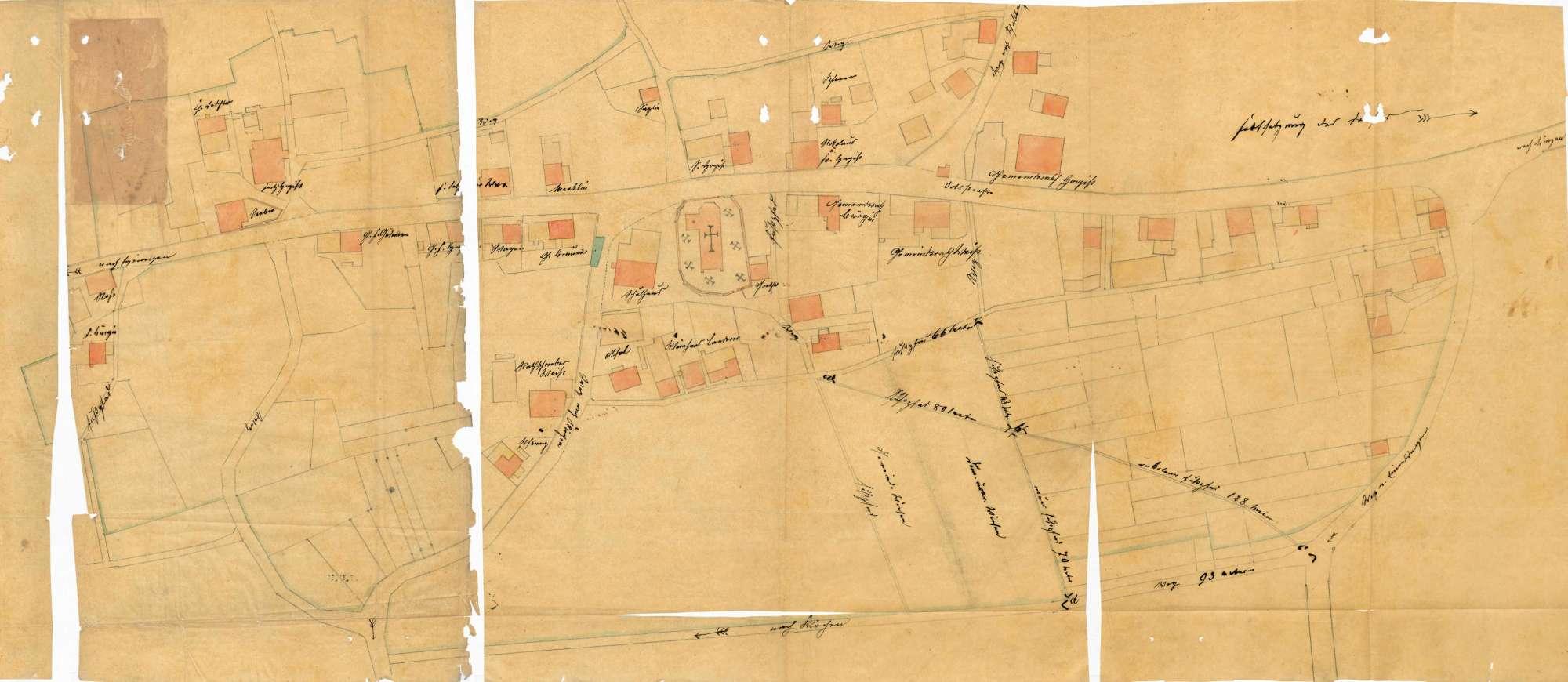 Verlegung des Weges über die domänenärarische Brühlmatte auf der Gemarkung Fischingen, Bild 1
