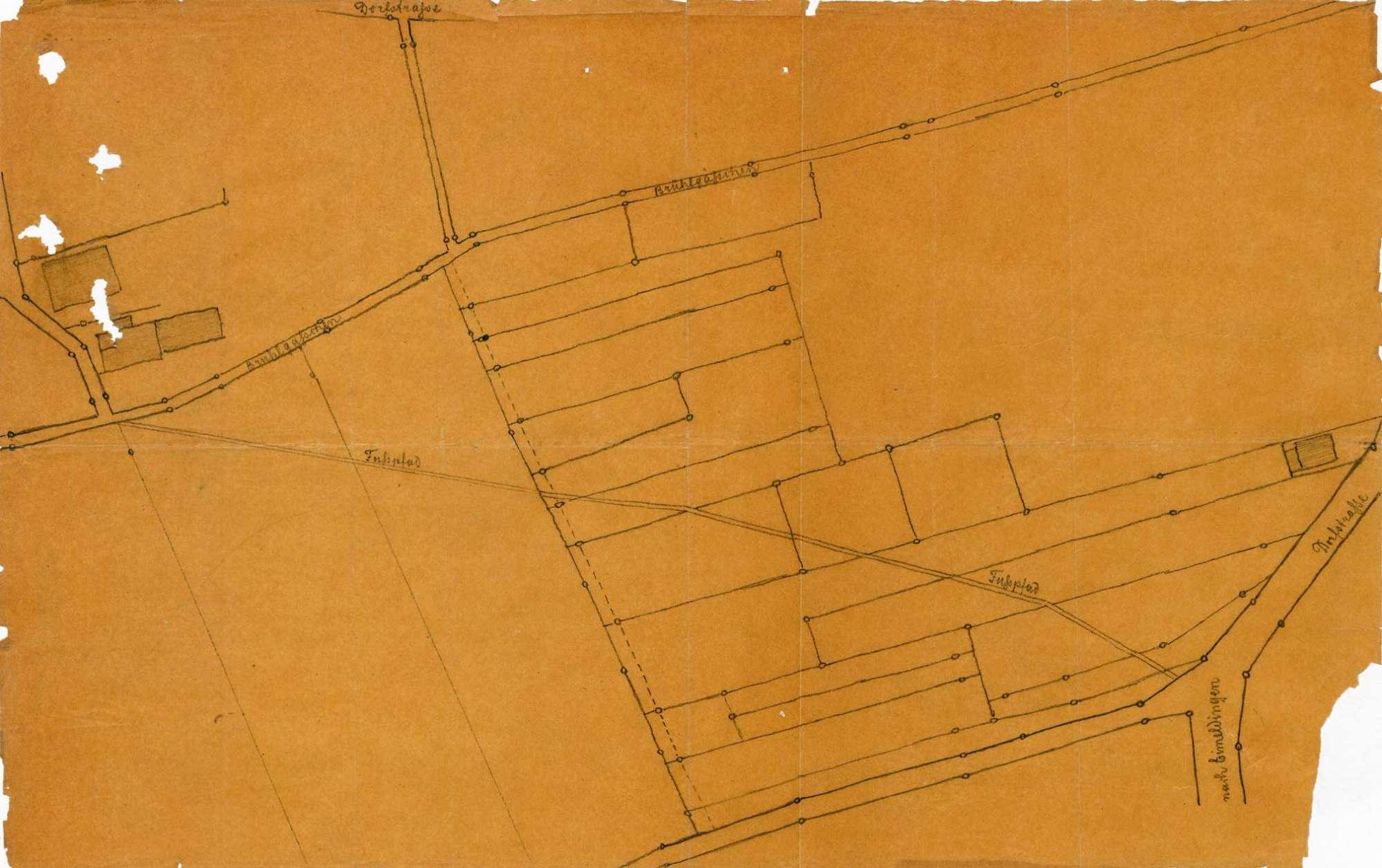Verlegung des Weges über die domänenärarische Brühlmatte auf der Gemarkung Fischingen, Bild 2