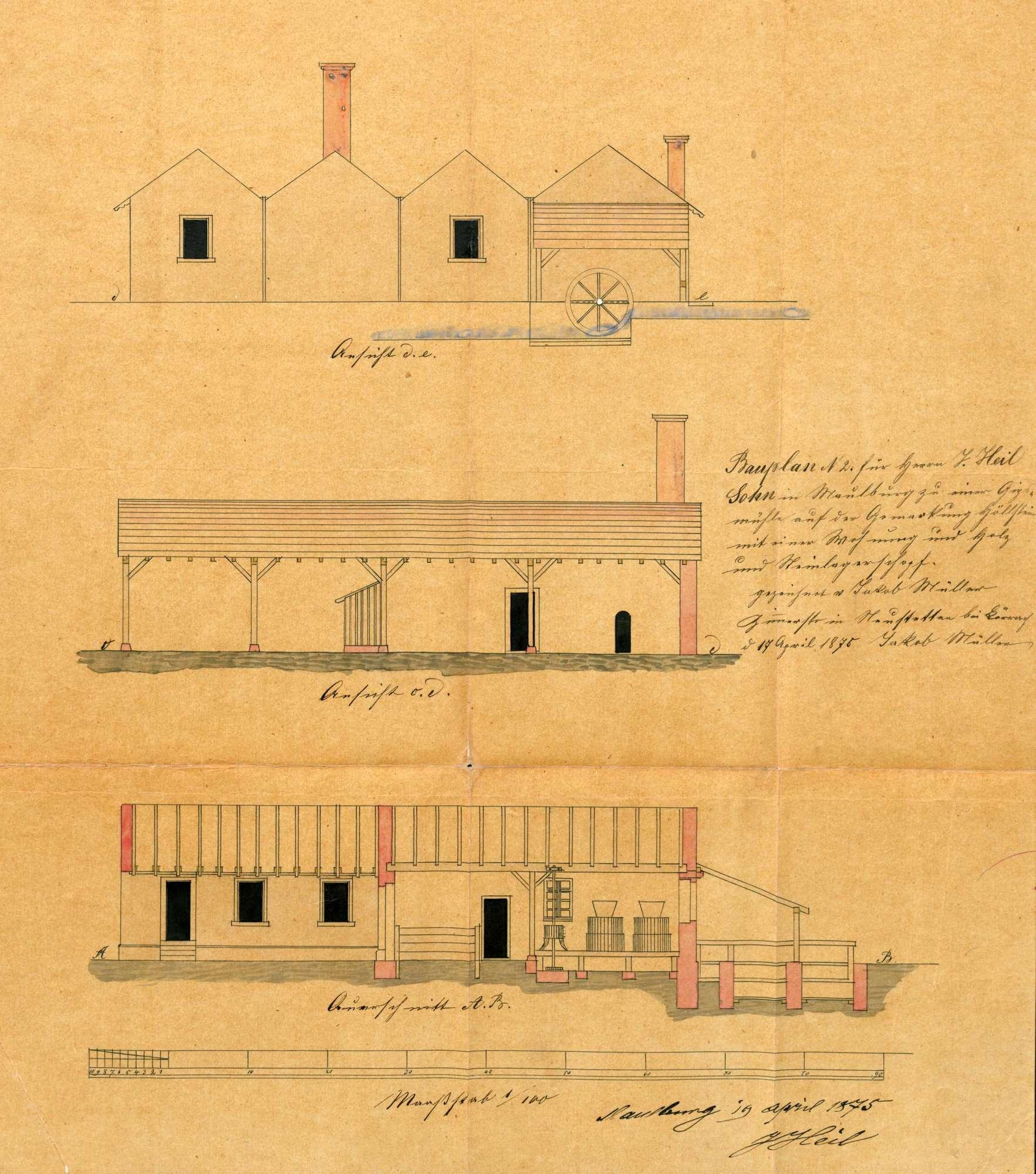 Betrieb der Gipswerke der Gebrüder Grether, früher Gipswerke Jakob Heil, in Höllstein, Bild 2