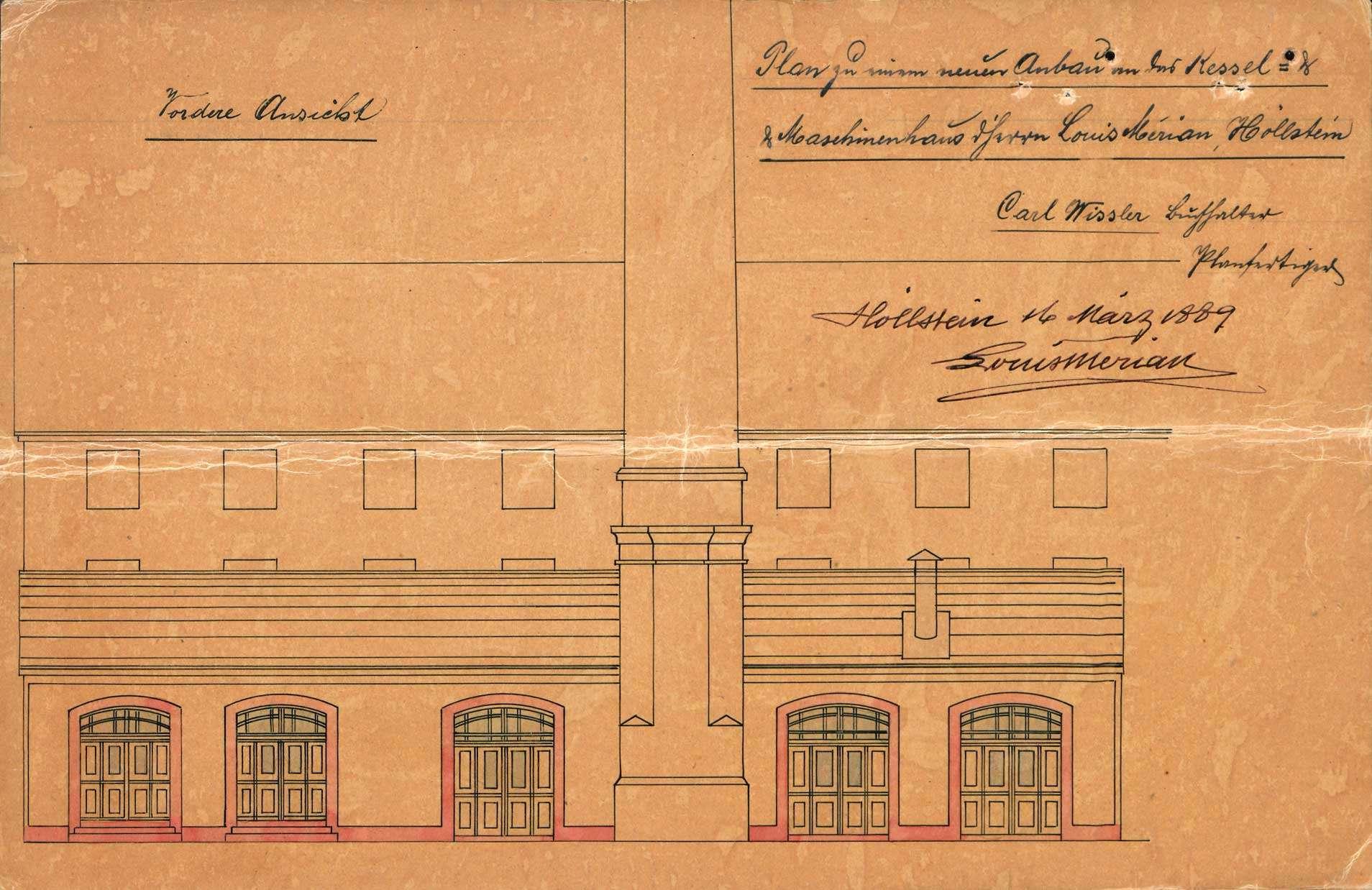 Verlegung der in der Maschinenfabrik des Louis Merian in Höllstein bestehenden Gasfabrik, Bild 2