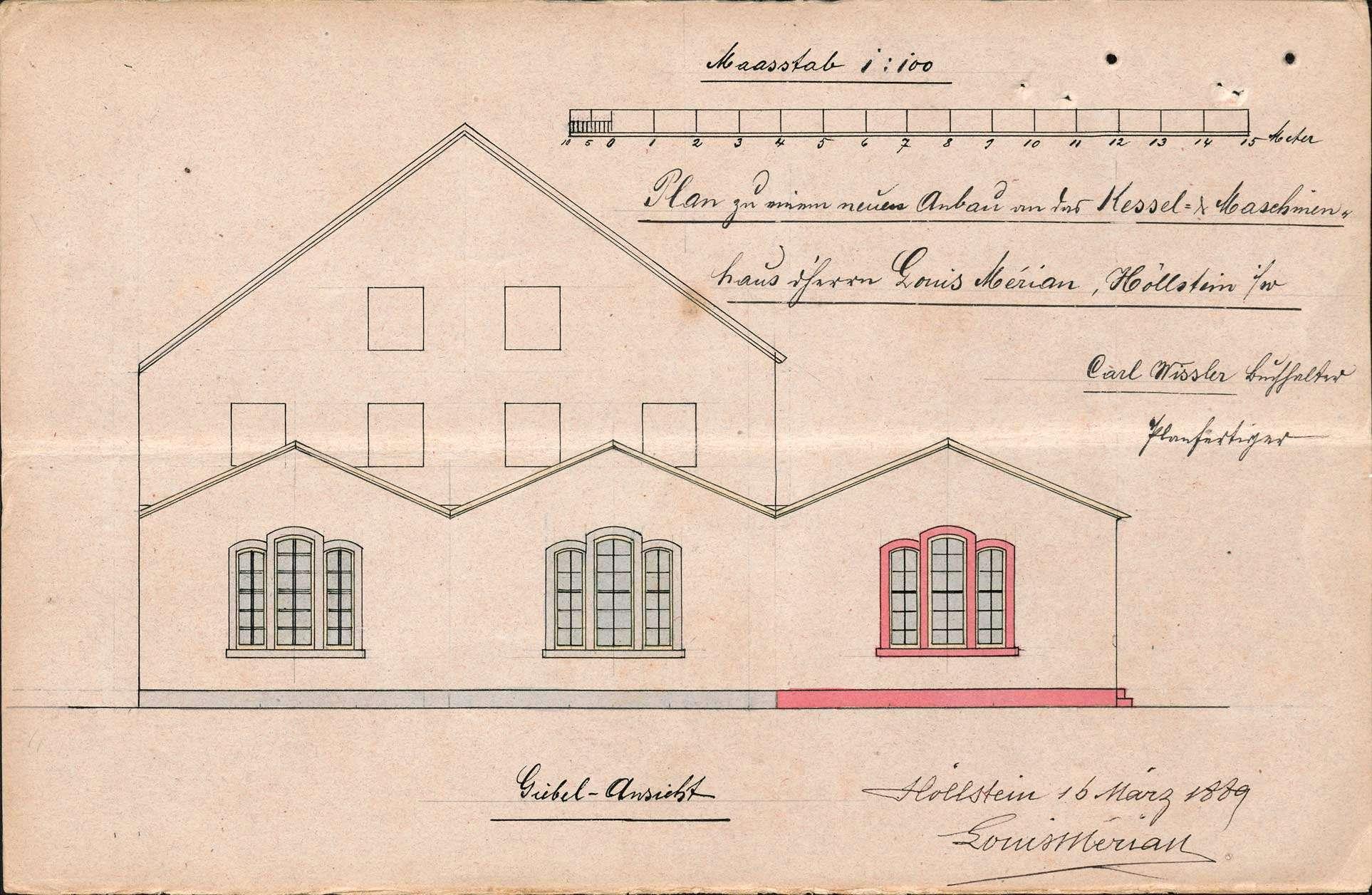 Verlegung der in der Maschinenfabrik des Louis Merian in Höllstein bestehenden Gasfabrik, Bild 3