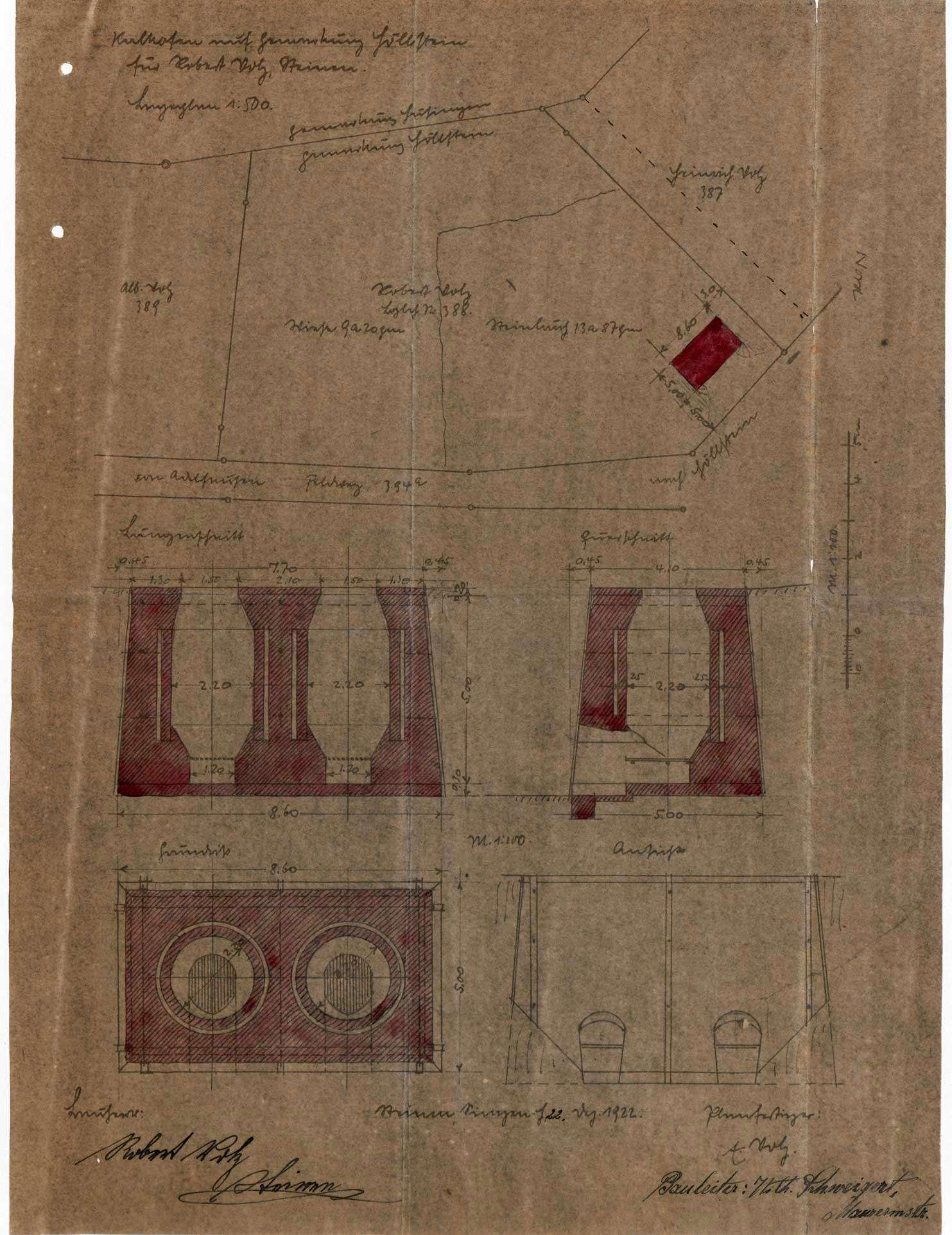 Gesuch des Landwirts Robert Volz von Steinen um Erlaubnis zur Anlegung eines Kalkbrennofens auf Gemarkung Höllstein, Bild 1