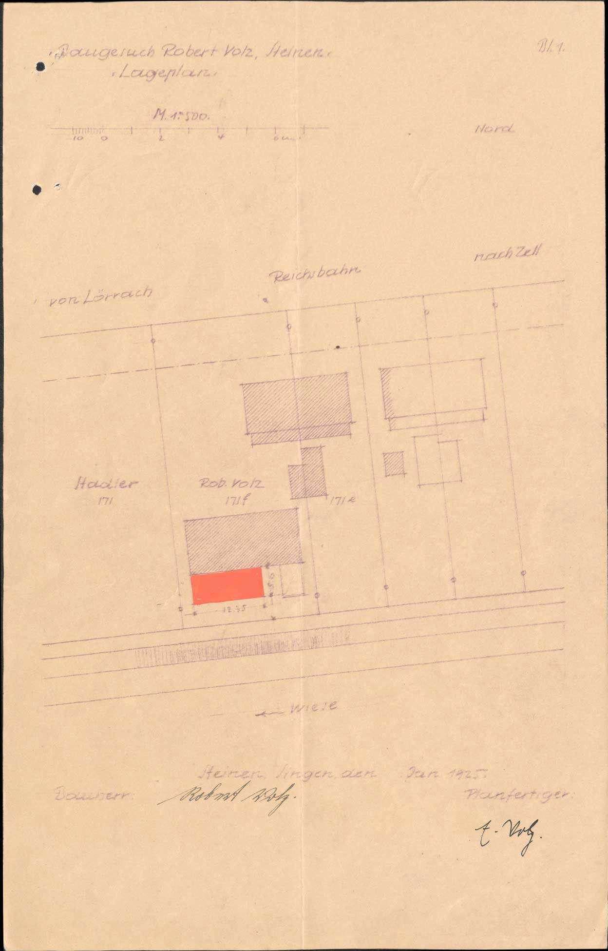 Gesuch des Landwirts Robert Volz von Steinen um Erlaubnis zur Anlegung eines Kalkbrennofens auf Gemarkung Höllstein, Bild 3