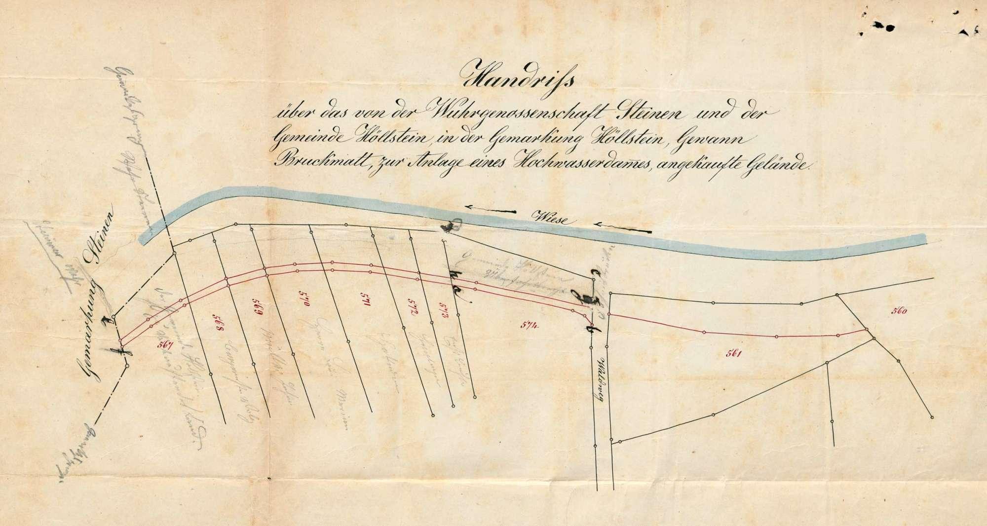 Korrektion des Wieseflusses auf der Gemarkung Höllstein, Bild 1