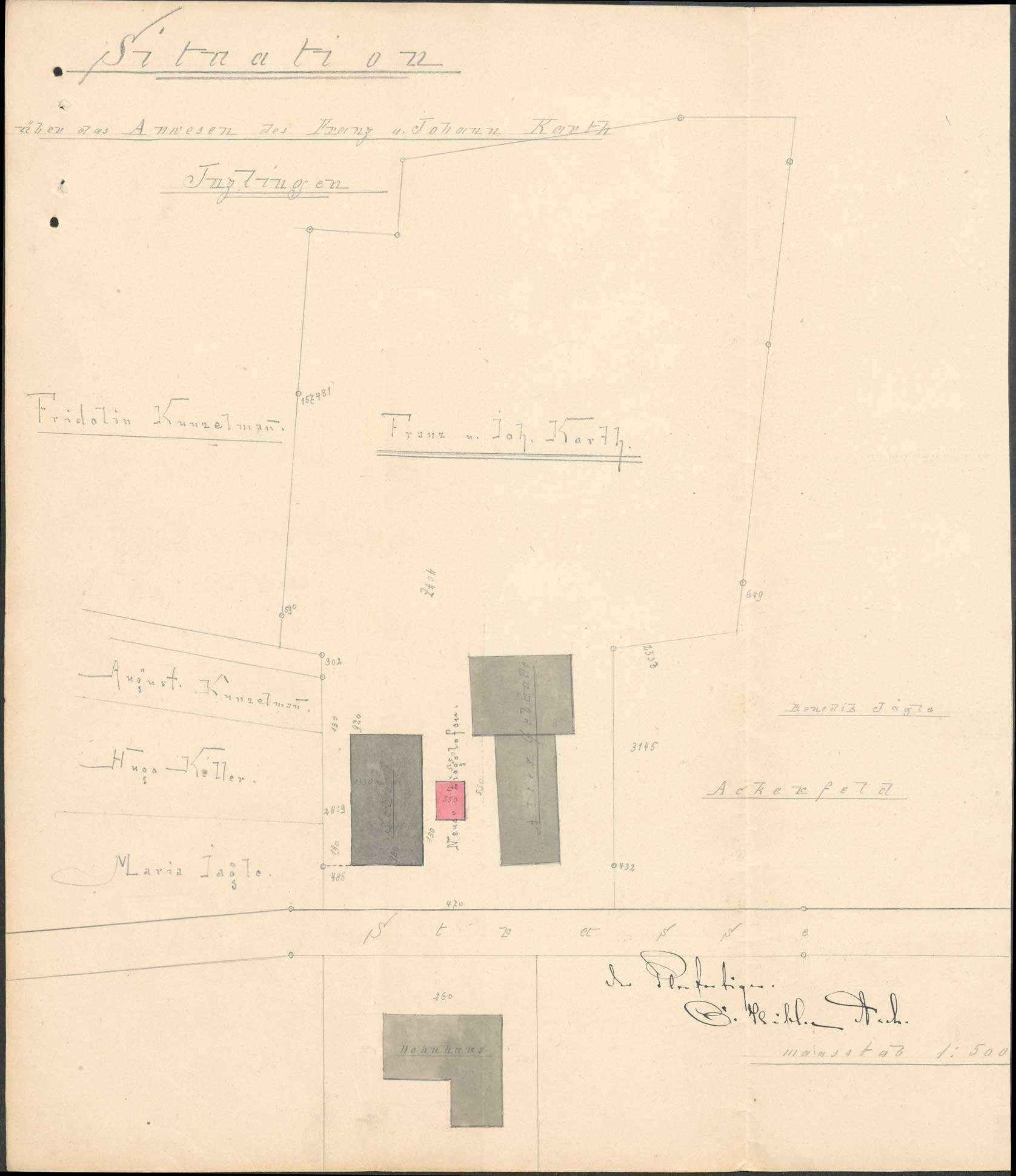 Gesuch des Franz Karth und des Johann Karth, beide von Inzlingen, um Erlaubnis zum Bau einer Kalkbrennerei, Bild 1