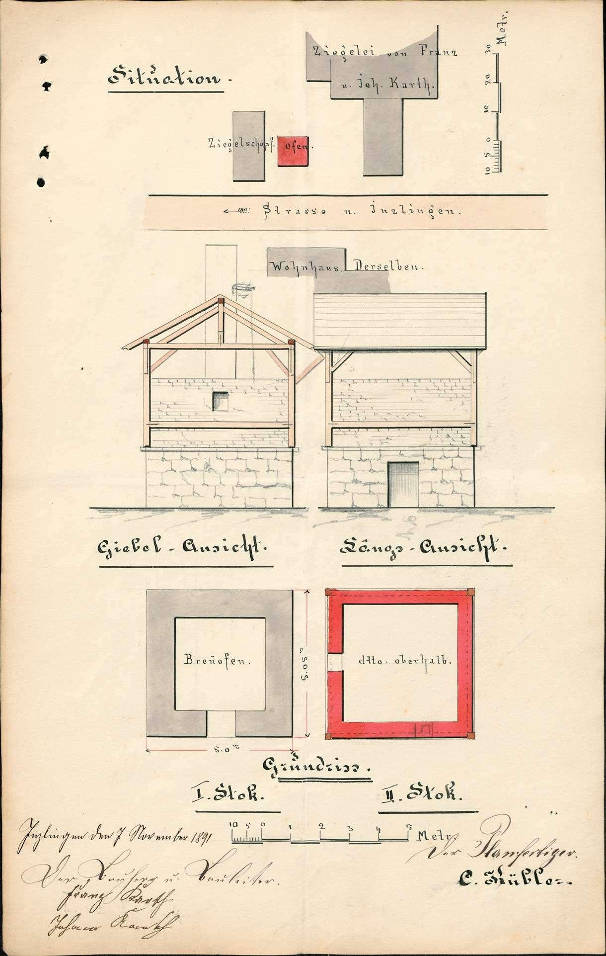 Gesuch des Franz Karth und des Johann Karth, beide von Inzlingen, um Erlaubnis zum Bau einer Kalkbrennerei, Bild 2