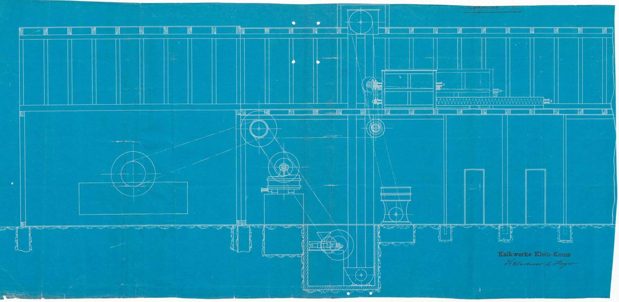 Errichtung einer mechanischen Kalkzerkleinerungsanlage-Kalkmüllerei und Terrazzomahlanlage durch die Kalkwerke Schlatterer & Hoyer, Kleinkems, Bild 3