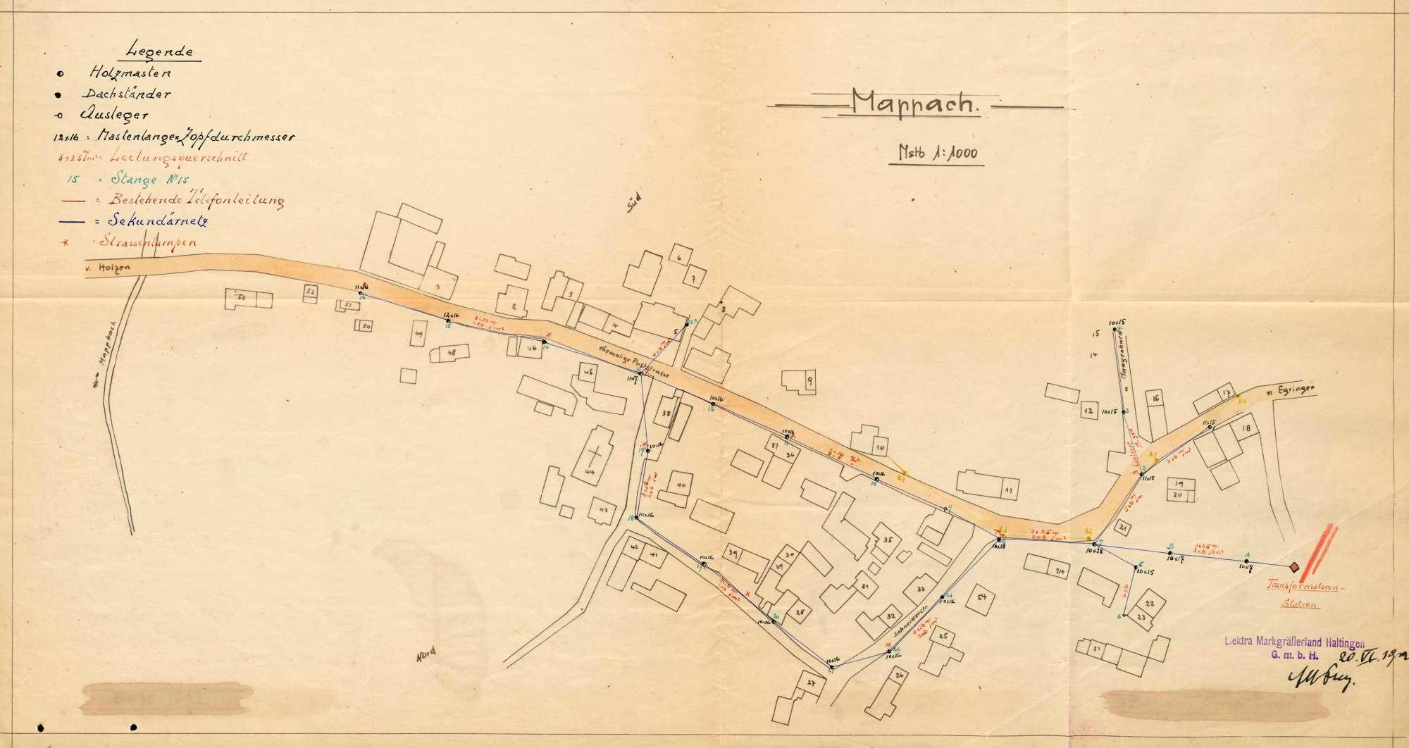 Versorgung der Gemeinde Mappach mit elektrischer Energie, Bild 1