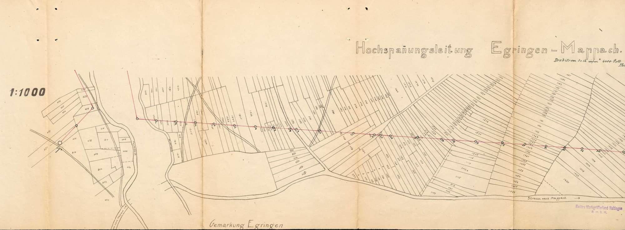 Versorgung der Gemeinde Mappach mit elektrischer Energie, Bild 2