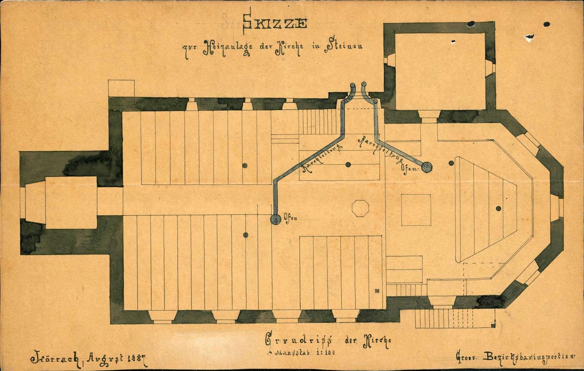 Bau und Unterhaltung der evangelischen Kirche in Steinen, Bild 1