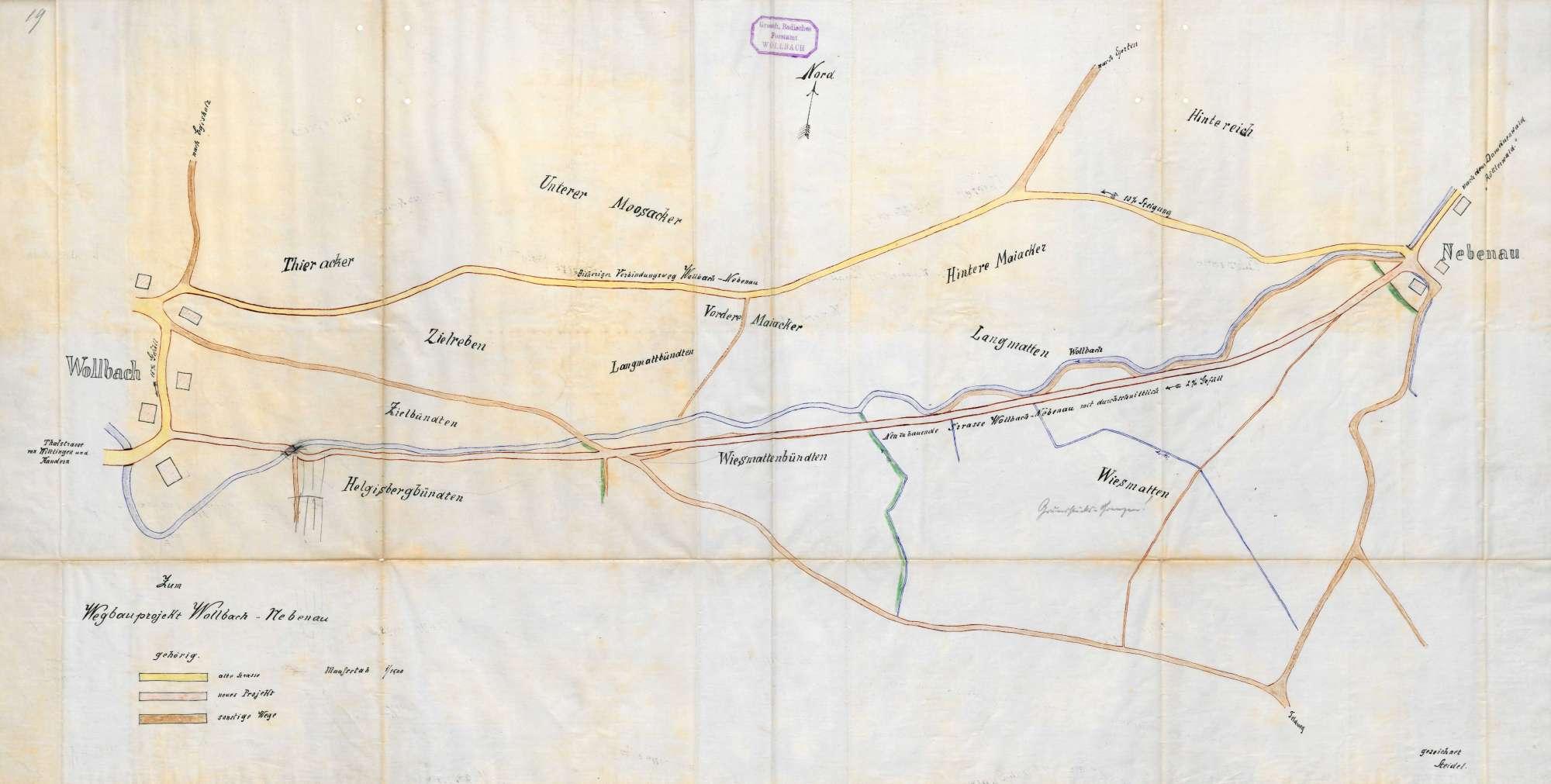 Bau eines Verbindungsweges zwischen Wollbach und Nebenau, Bild 1
