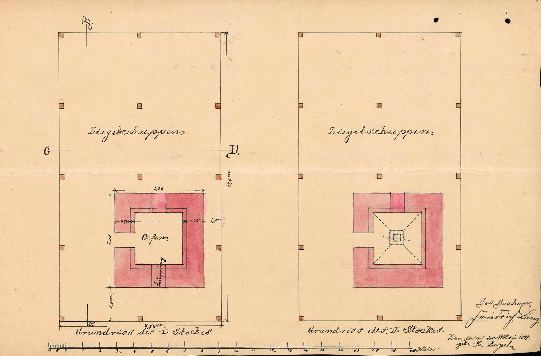 Errichtung eines Ziegeleigebäudes mit Brennofen in Wollbach durch Friedrich Lang, Bild 2