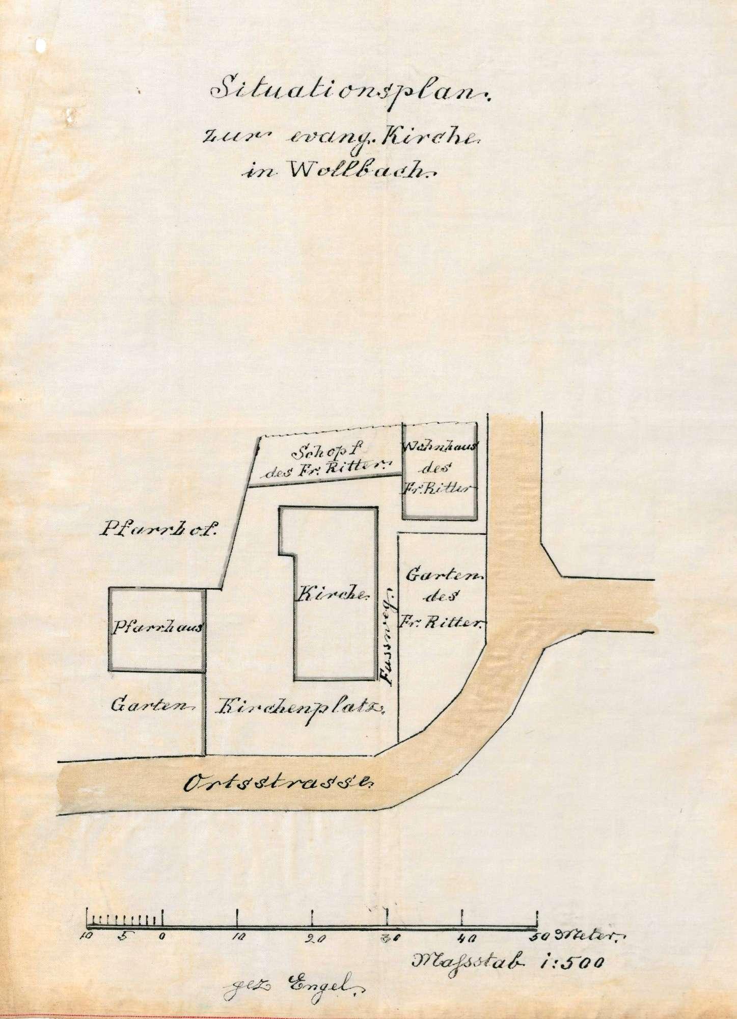 Bau und Unterhaltung der evangelischen Kirche in Wollbach, Bild 1