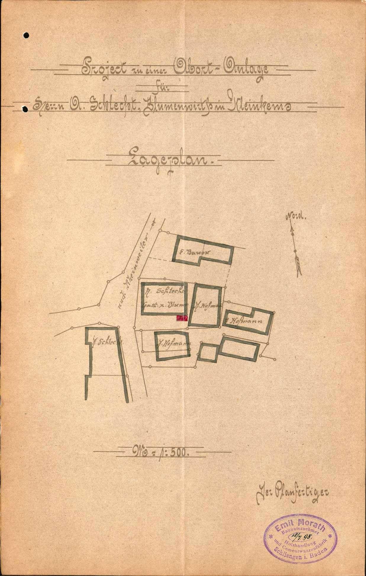 Verleihung der Wirtschaftskonzession für das Gasthaus Zur Blume in Kleinkems, Bild 2