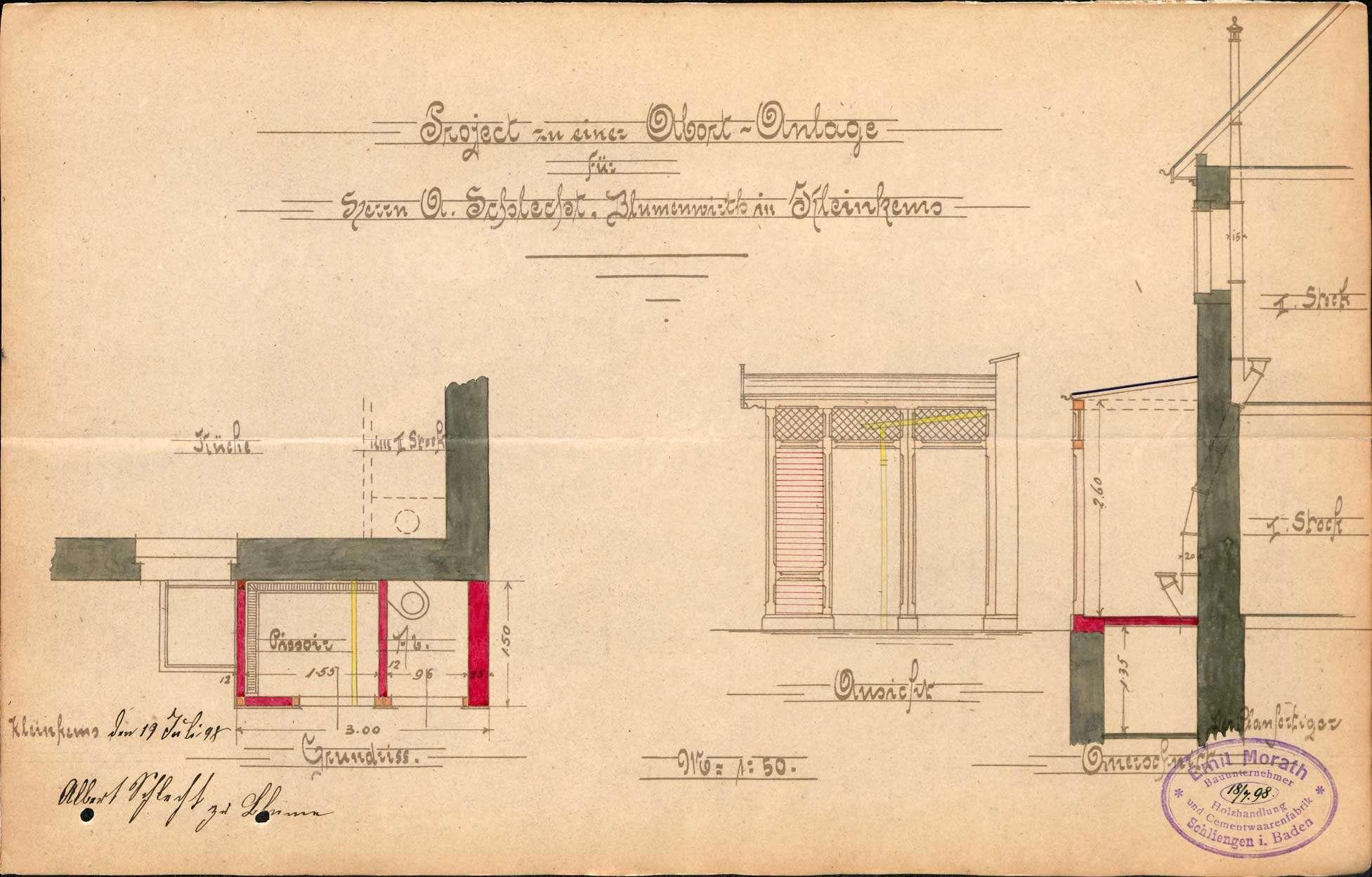 Verleihung der Wirtschaftskonzession für das Gasthaus Zur Blume in Kleinkems, Bild 3