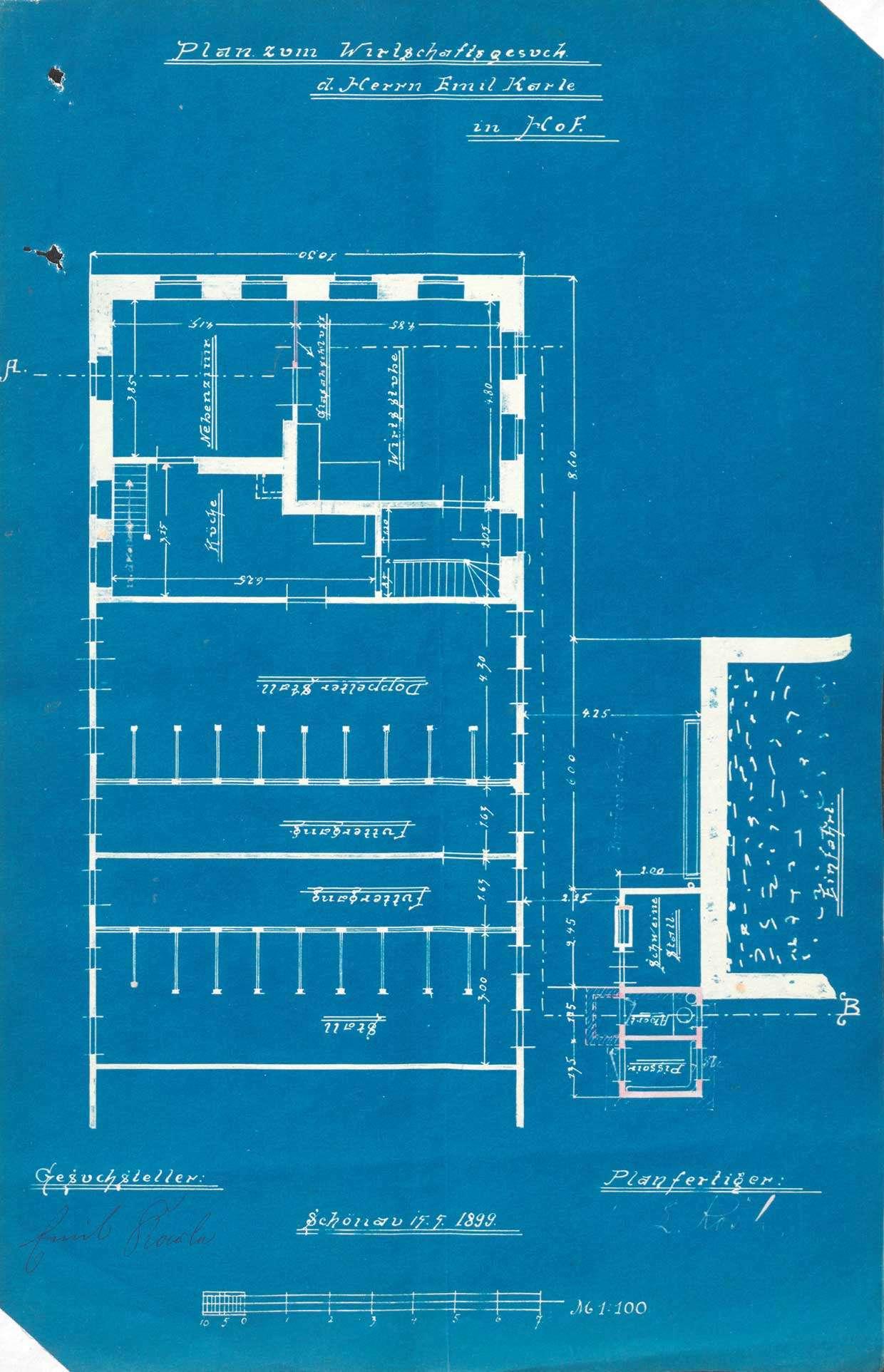 Verleihung der Wirtschaftskonzession für das Gasthaus Zur Linde in Fröhnd-Hof, Bild 1