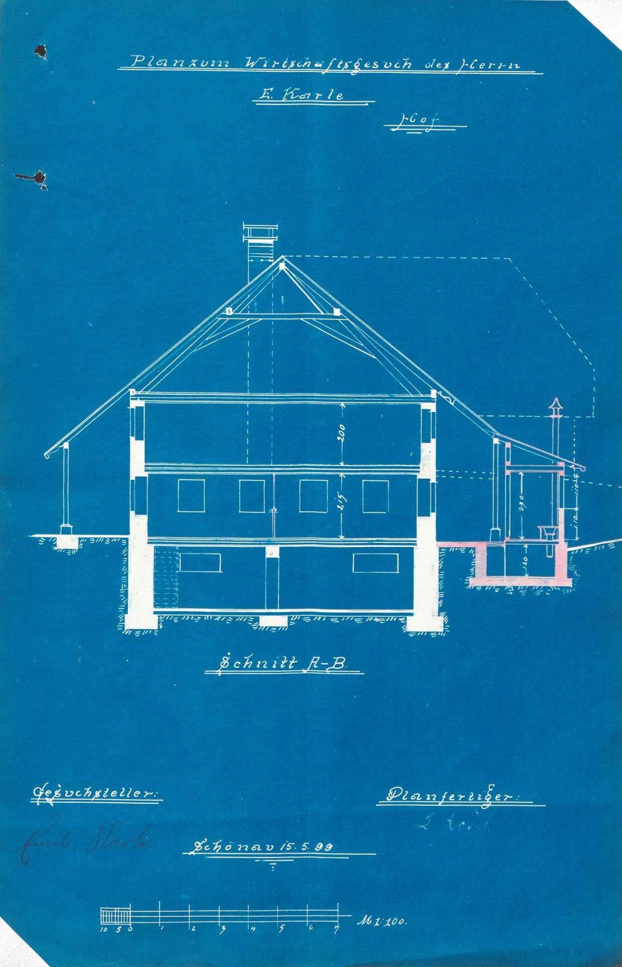 Verleihung der Wirtschaftskonzession für das Gasthaus Zur Linde in Fröhnd-Hof, Bild 2