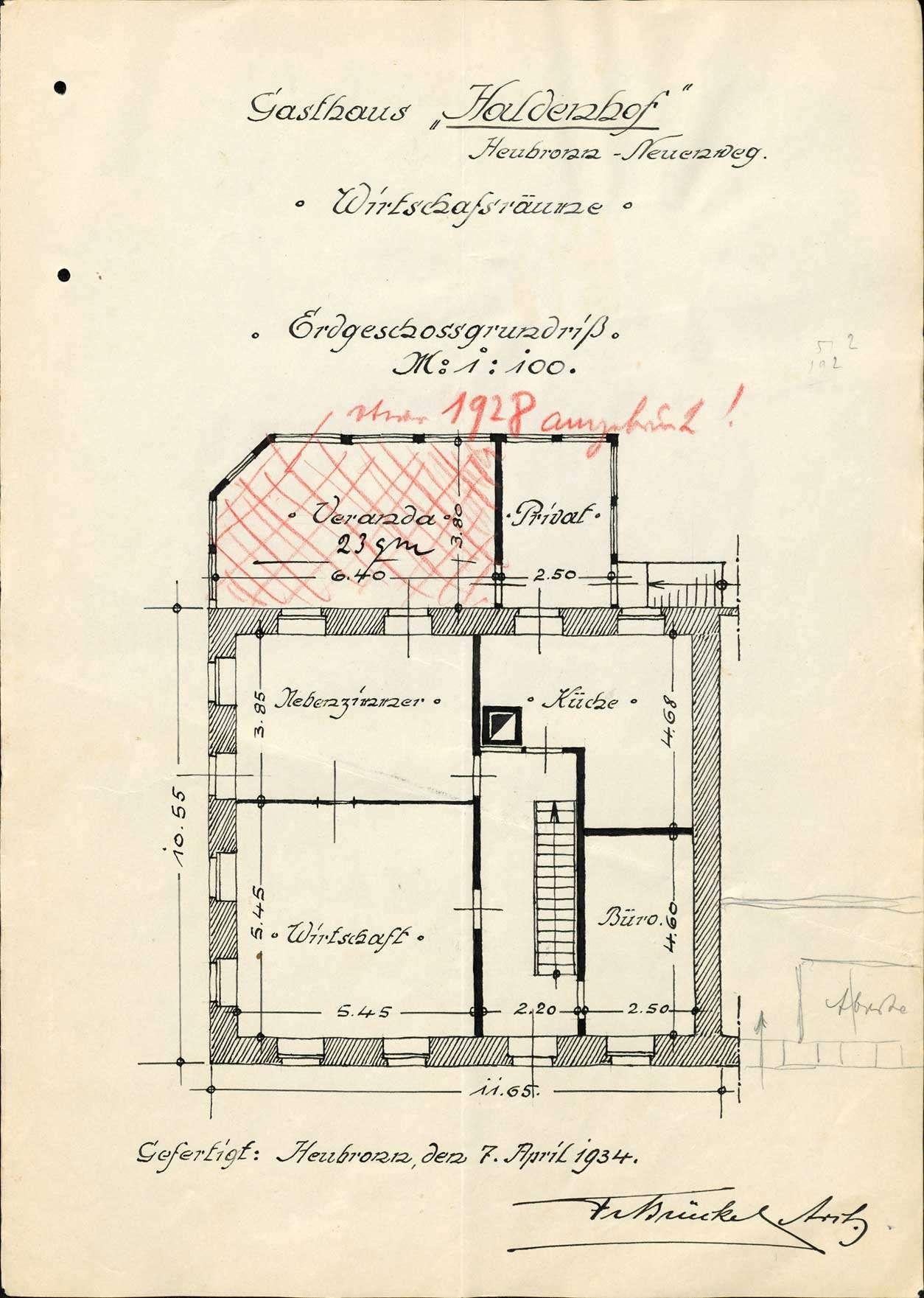 Verleihung der Wirtschaftskonzession für das Gasthaus Zum Haldenhof in Neuenweg-Heubronn, Bild 1