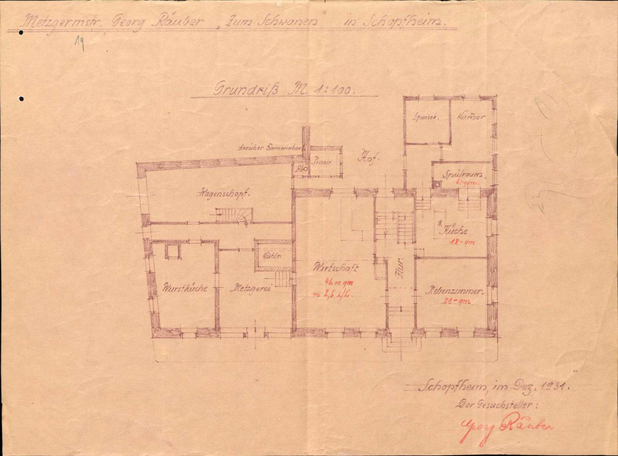 Verleihung der Wirtschaftskonzession für das Gasthaus Zum Schwanen in Schopfheim, Bild 1