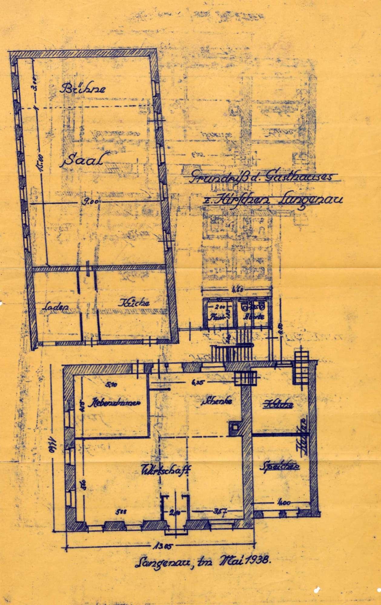 Verleihung der Wirtschaftskonzession für das Gasthaus Zum Hirschen in Langenau, Bild 2
