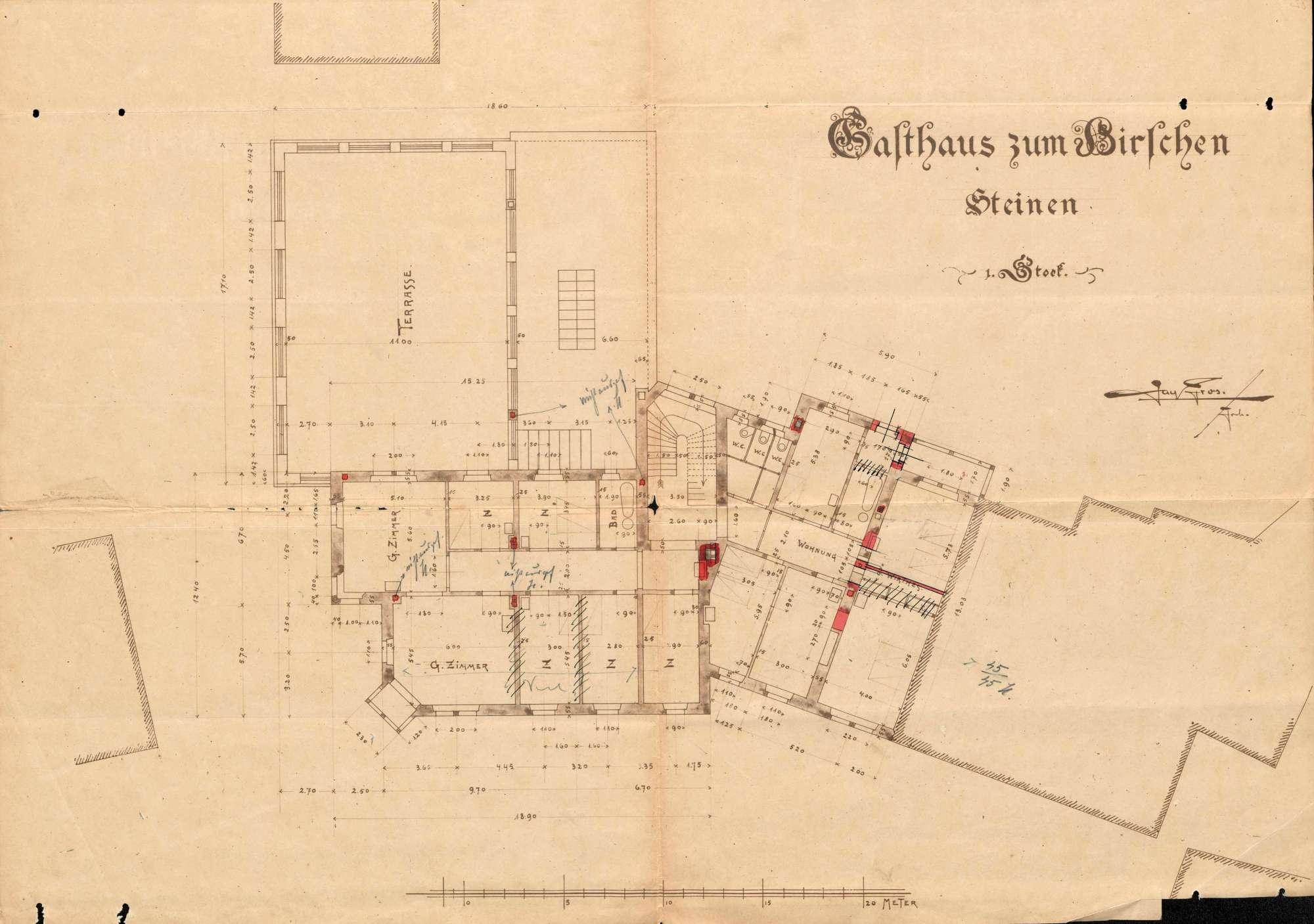Verleihung der Wirtschaftskonzession für das Gasthaus Zum Hirschen in Steinen, Bild 3