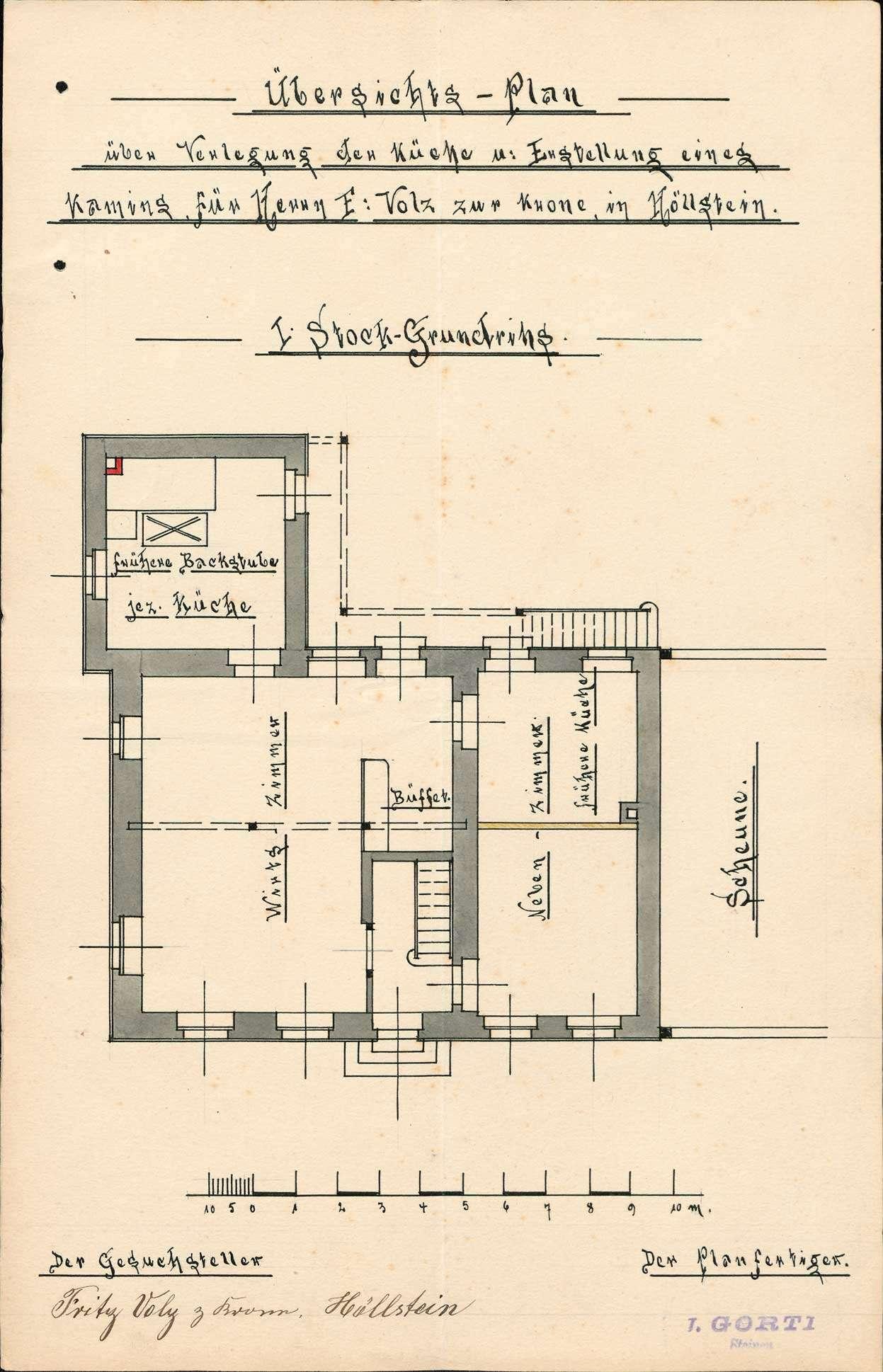 Verleihung der Wirtschaftskonzession für das Gasthaus Zur Krone in Höllstein, Bild 2