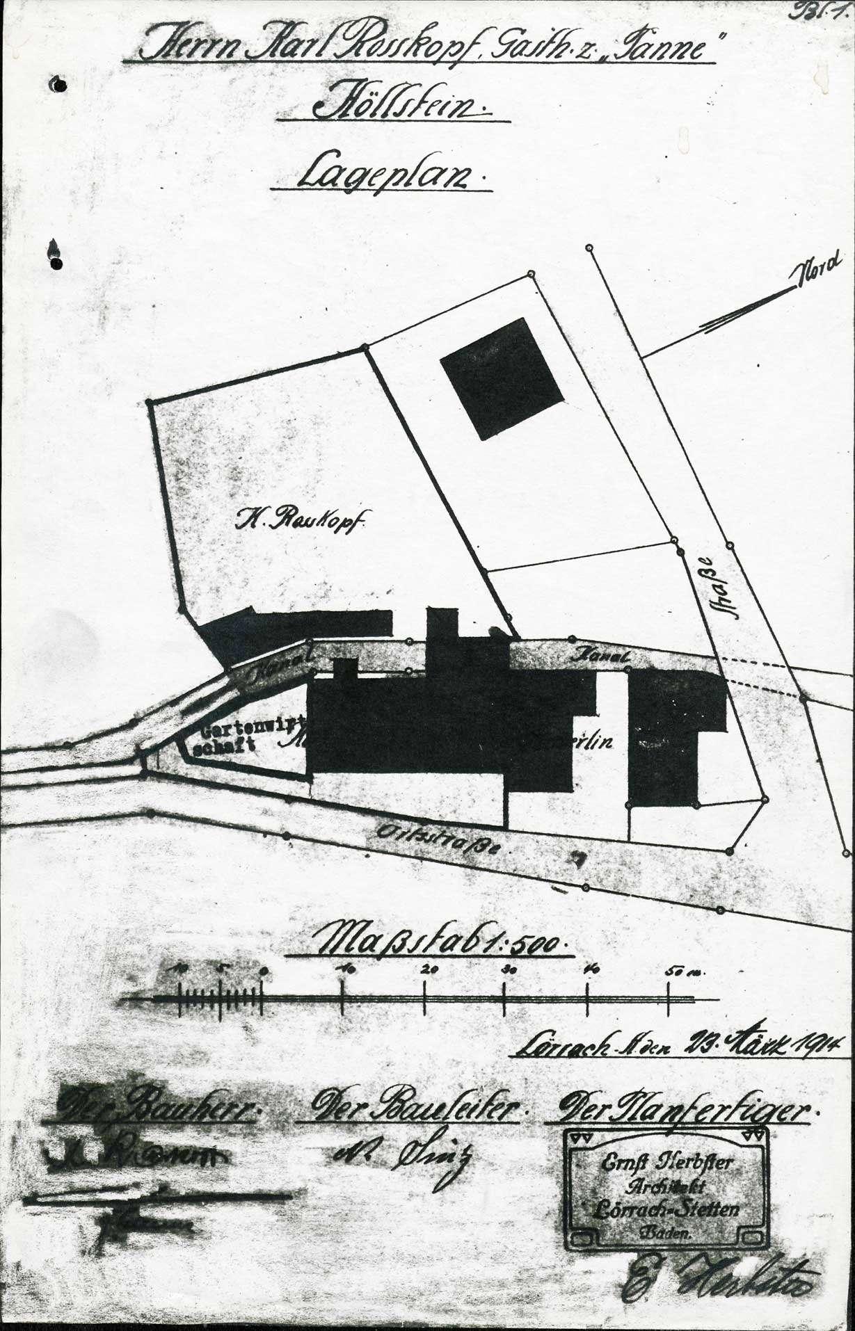 Verleihung der Wirtschaftskonzession für das Gasthaus Zur Tanne in Höllstein, Bild 1
