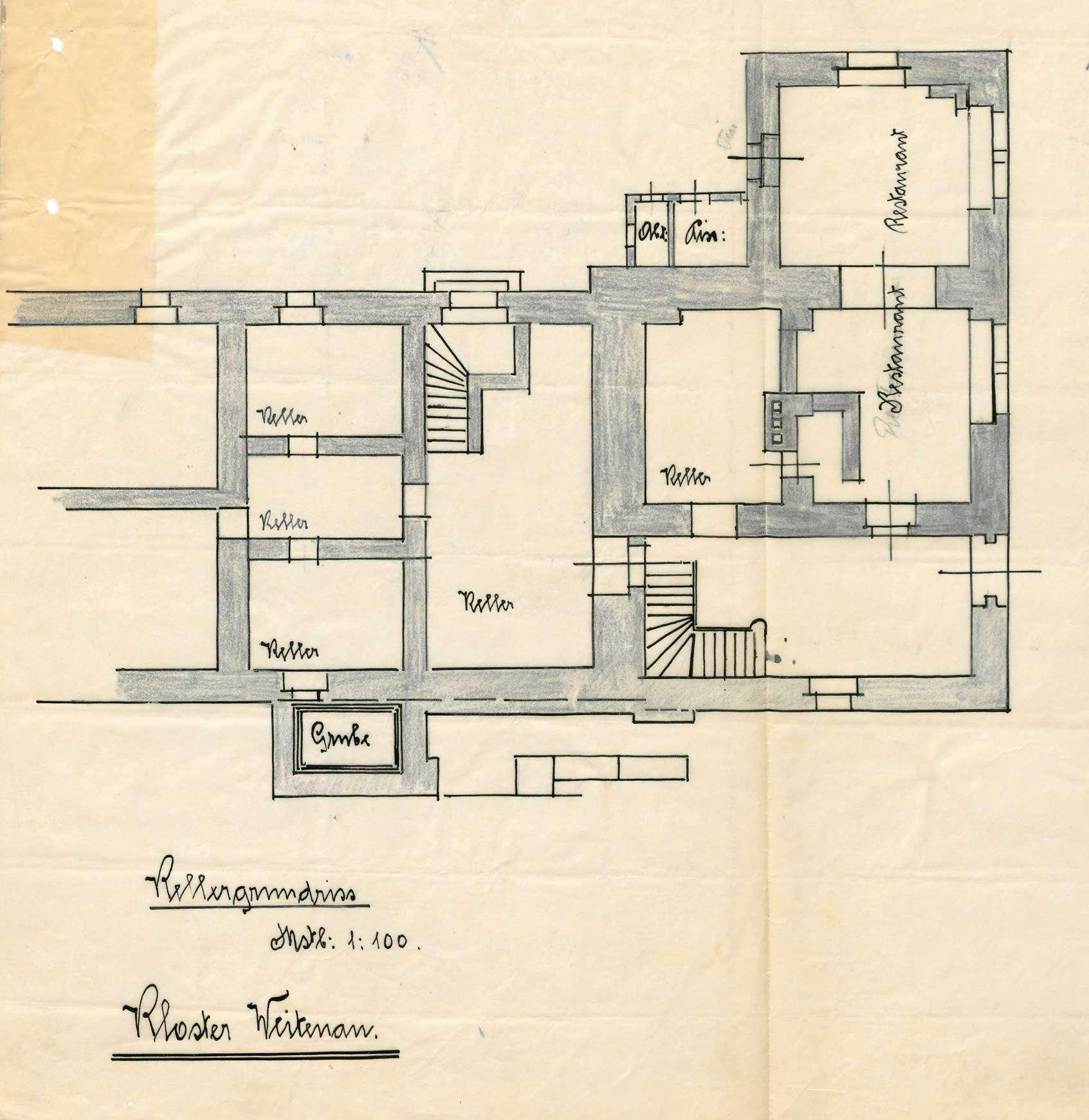 Verleihung der Wirtschaftskonzession für das Gasthaus Kloster Weitenau in Schlächtenhaus, Bild 1