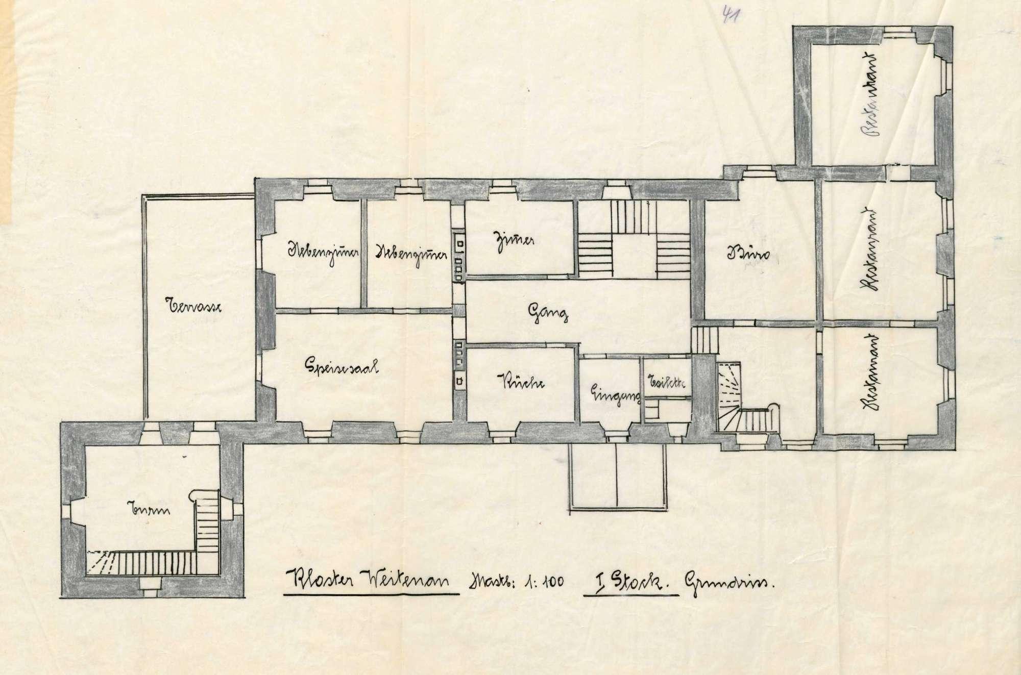 Verleihung der Wirtschaftskonzession für das Gasthaus Kloster Weitenau in Schlächtenhaus, Bild 2