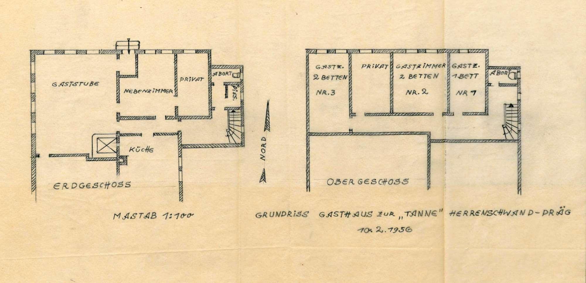 Verleihung der Wirtschaftskonzession für das Gasthaus Zum Tannenbaum, jetzt Zur Tanne, in Herrenschwand, Bild 1