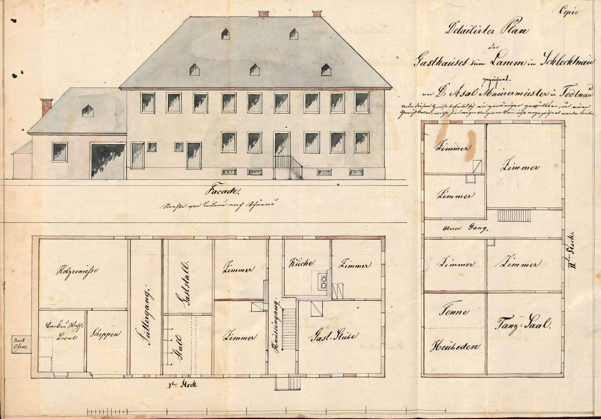 Verleihung der Wirtschaftskonzession für das Gasthaus Zum Lamm in Schlechtnau, Bild 1