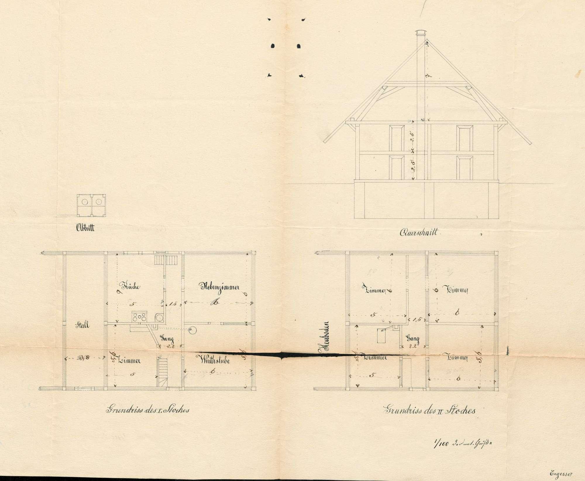 Verleihung der Wirtschaftskonzession für das Gasthaus Zur Eiche in Utzenfeld, Bild 1